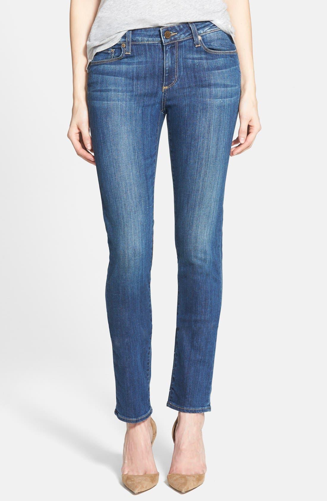 Alternate Image 1 Selected - Paige Denim 'Skyline' Skinny Jeans (Orson Blue)