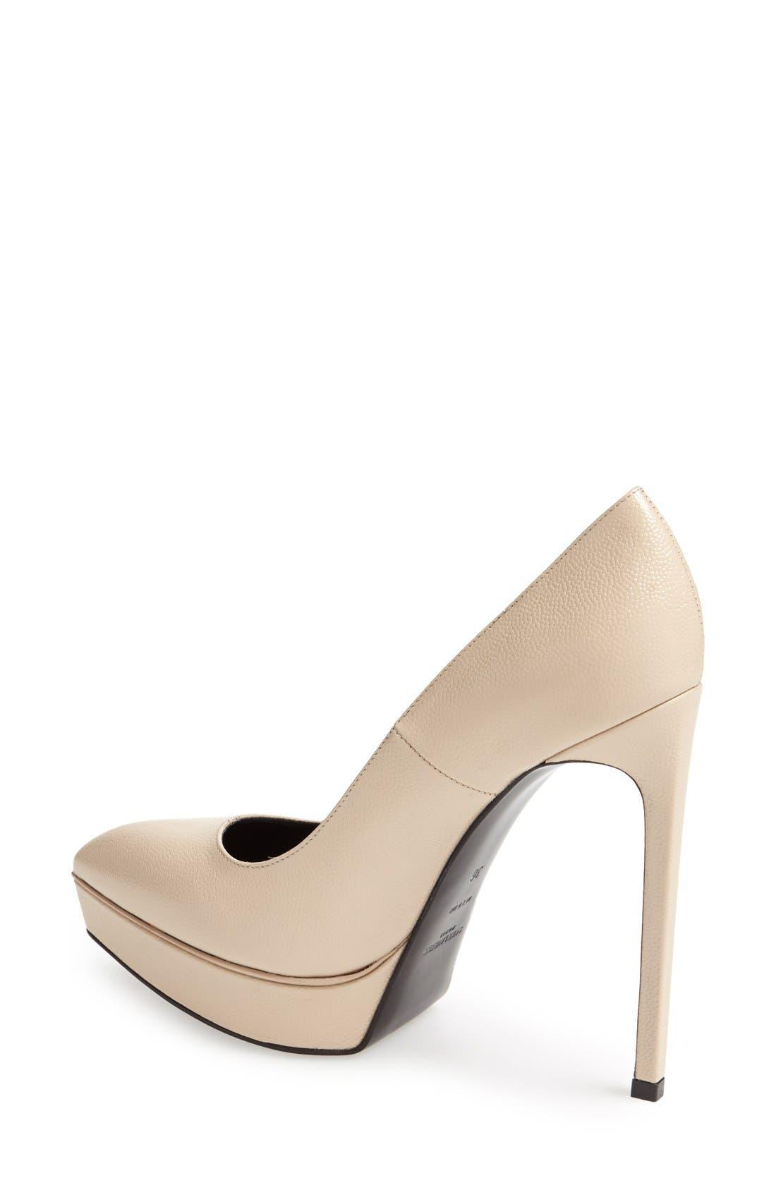Alternate Image 2  - Saint Laurent 'Janis' Pointy Toe Platform Pump (Women)