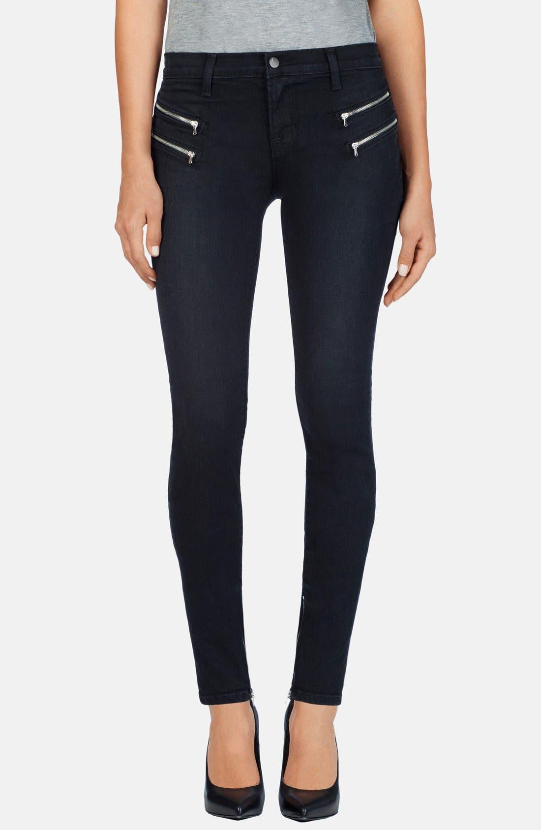 Alternate Image 1 Selected - J Brand 'Cass' Zip Skinny Jeans (Digital)