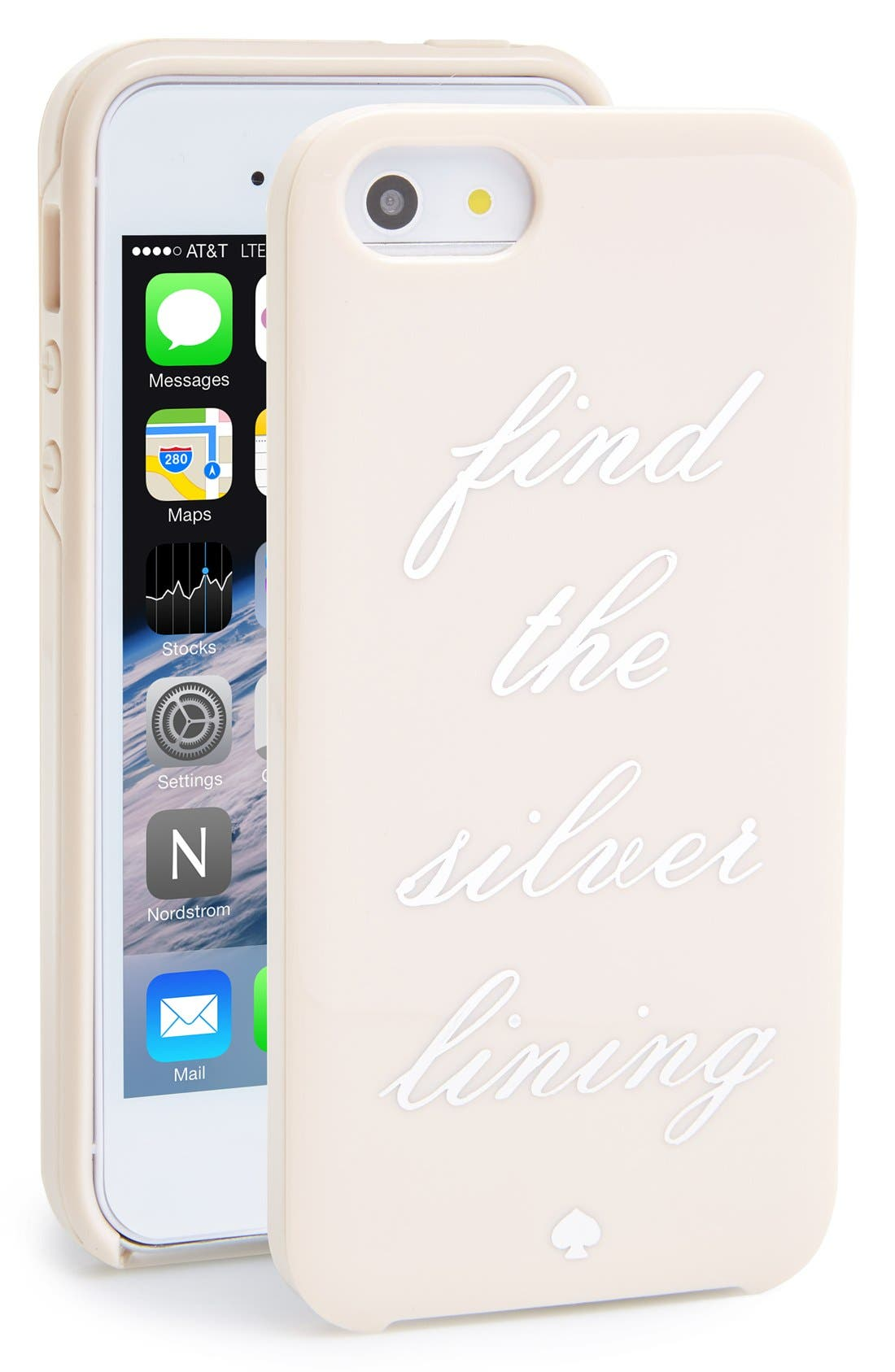 Alternate Image 1 Selected - kate spade new york 'find the silver lining' iPhone 5 & 5s case