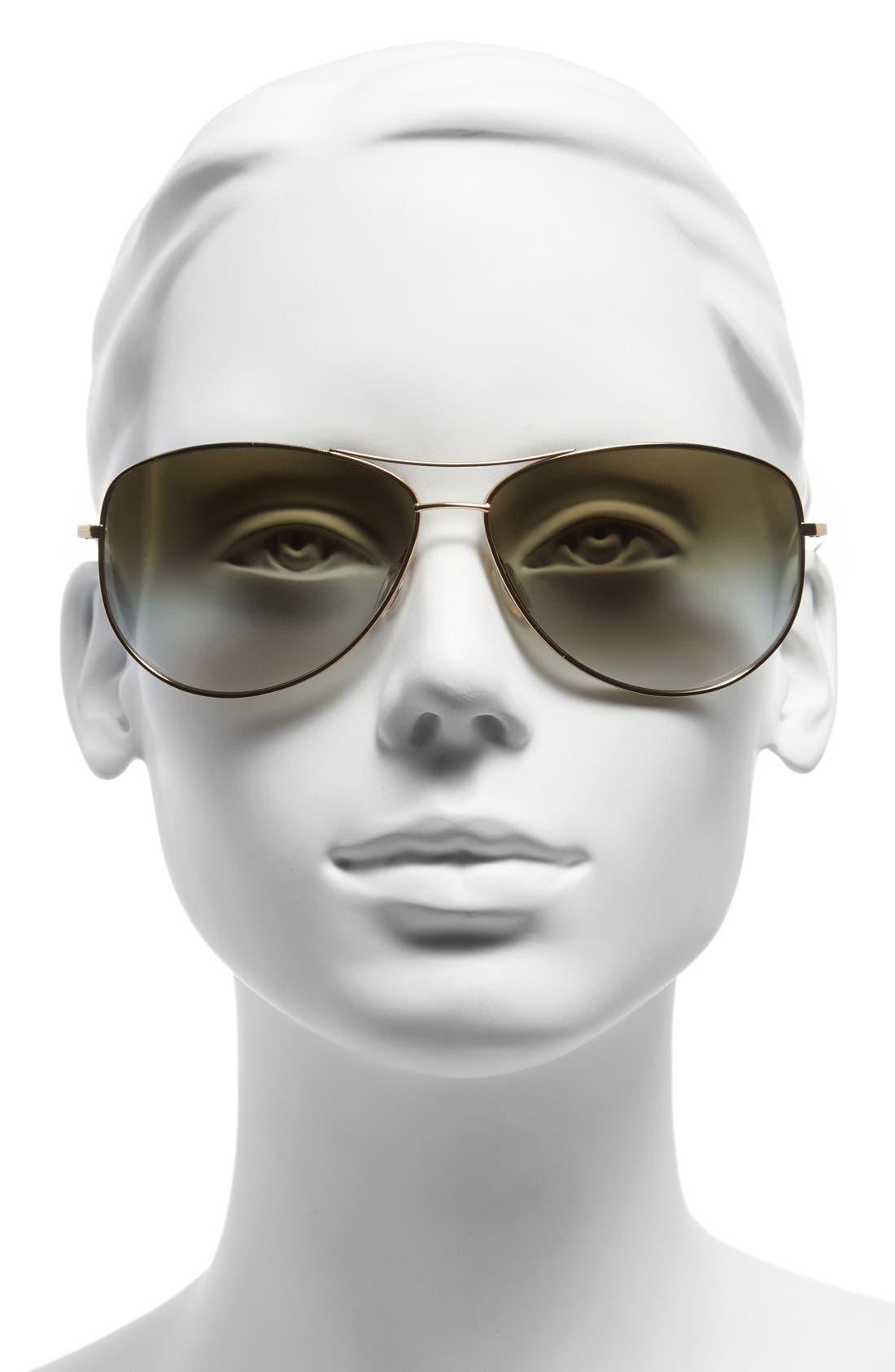 Alternate Image 2  - Oliver Peoples 'Kempner' 65mm Aviator Sunglasses
