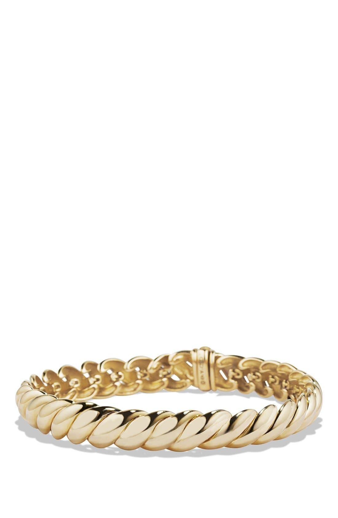 Alternate Image 1 Selected - David Yurman 'Hampton Cable' Link Bracelet in Gold