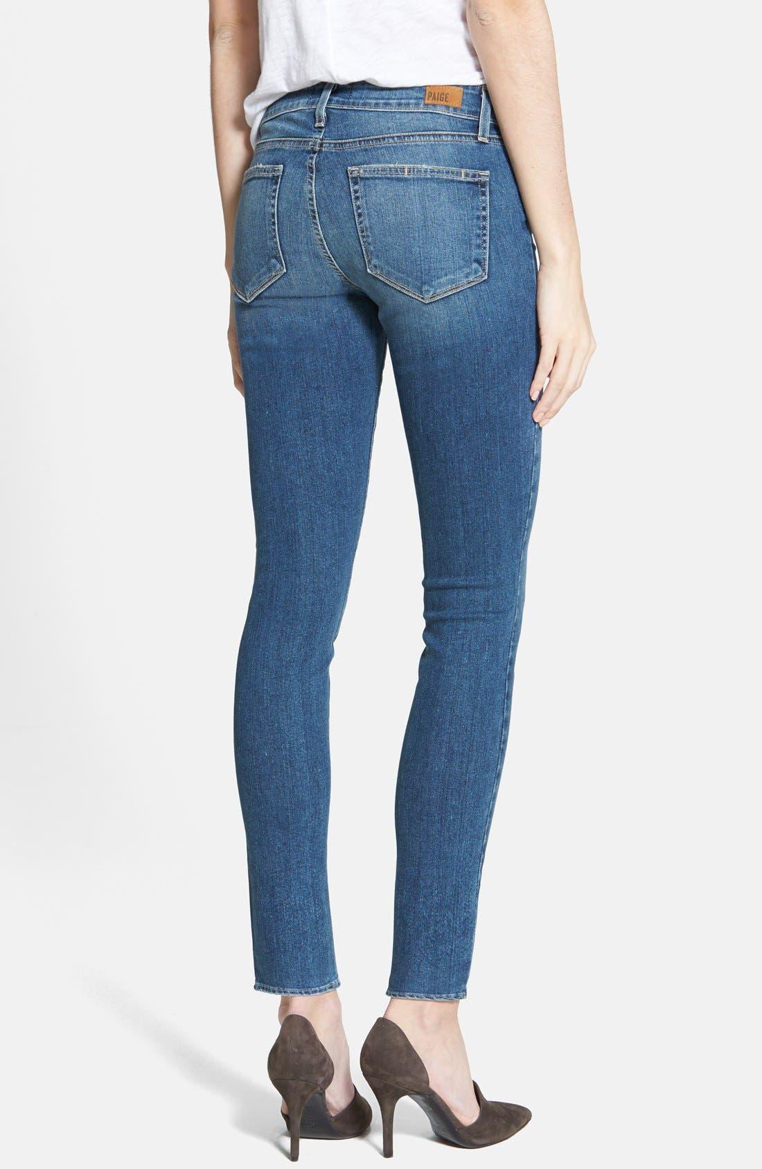 Alternate Image 2  - Paige Denim 'Verdugo' Ultra Skinny Jeans (Miles Blue)