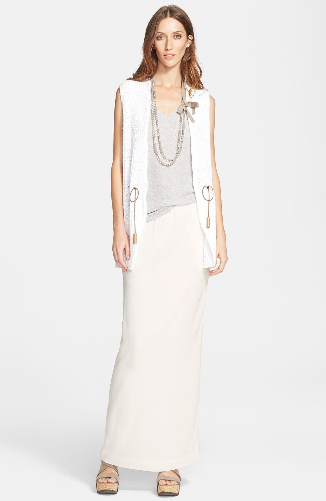 Alternate Image 5  - Fabiana Filippi Silk Maxi Skirt