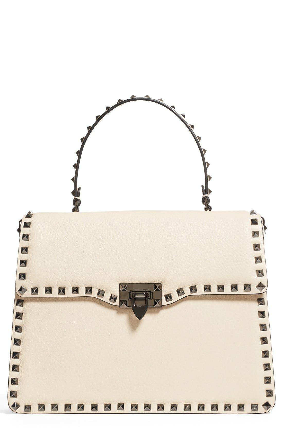Main Image - Valentino Rockstud Framed Leather Handbag