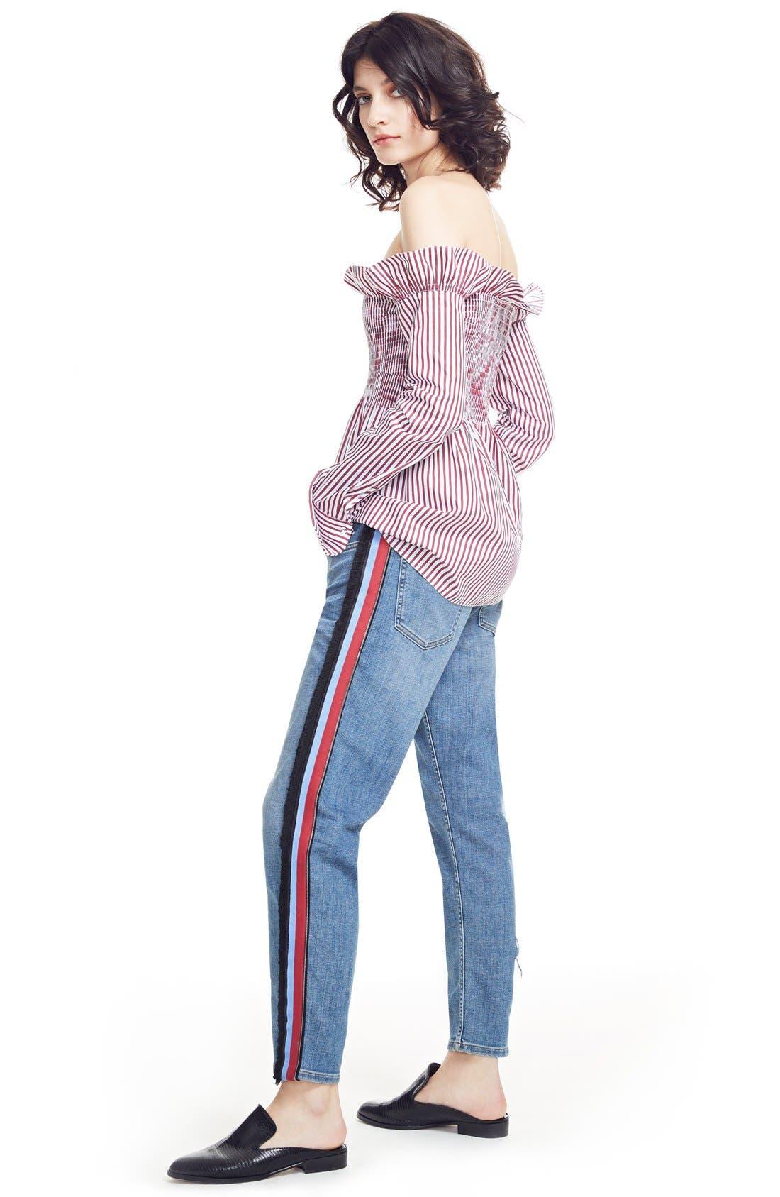 Alternate Image 2  - Victoria, Victoria Beckham Off the Shoulder Smocked Shirt