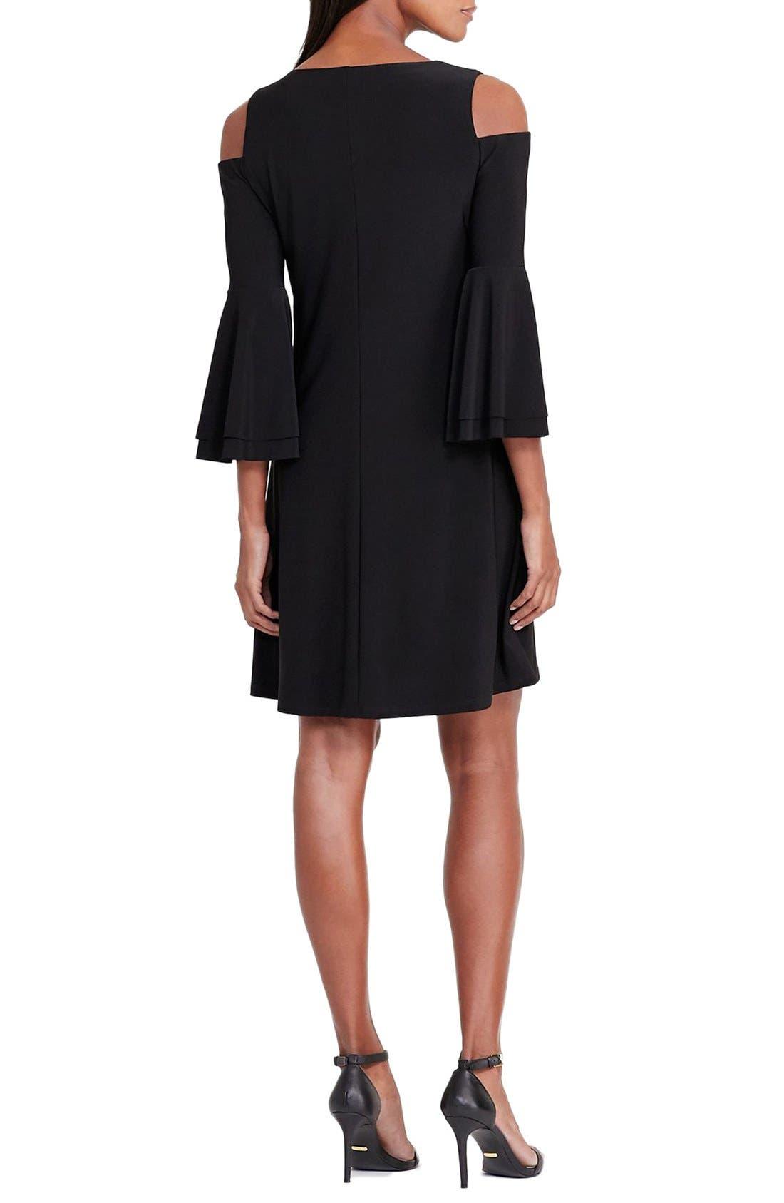 Alternate Image 2  - Lauren Ralph Lauren Cold Shoulder Jersey A-Line Dress