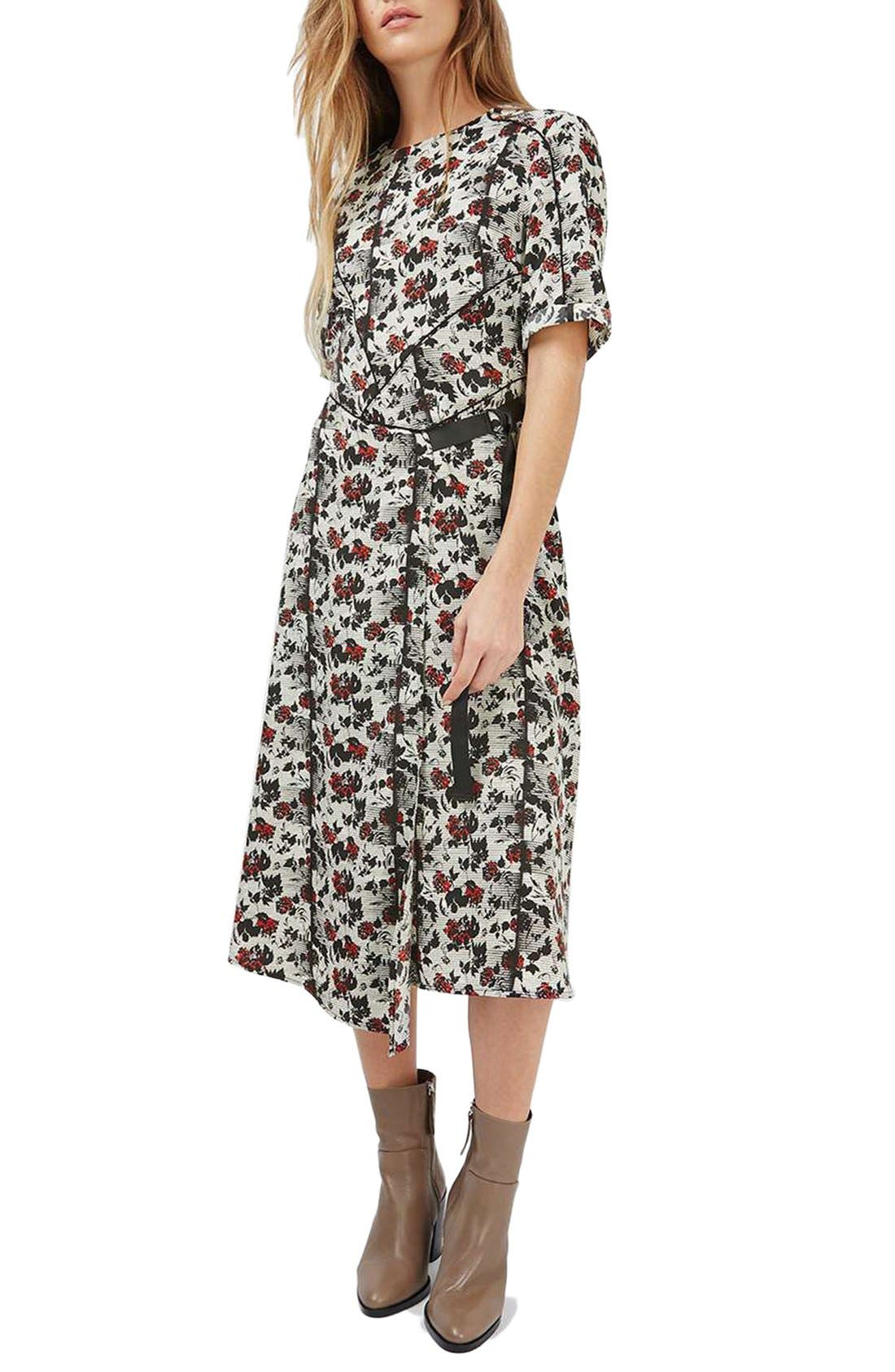 Alternate Image 1 Selected - Topshop Floral Midi Dress