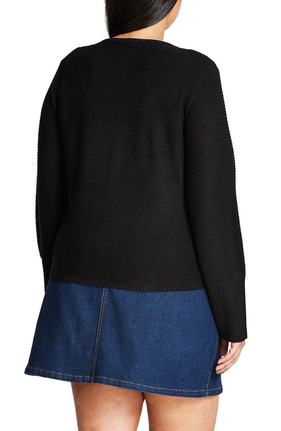 Alternate Image 2  - City Chic Mystery Cardigan (Plus Size)