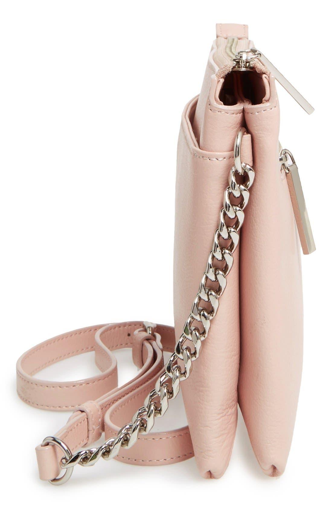 Alternate Image 5  - Halogen® Leather Crossbody Bag