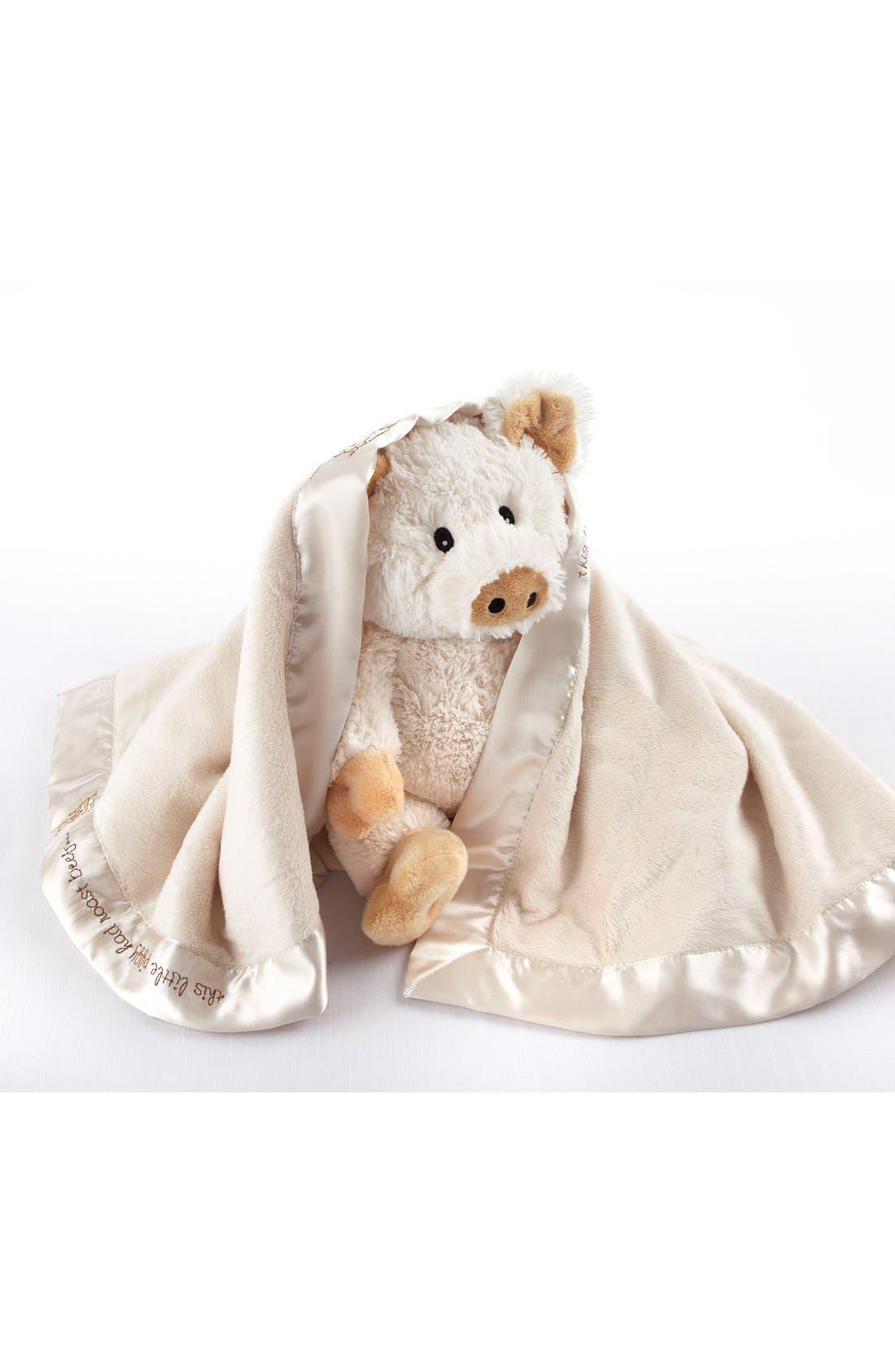 Alternate Image 3  - Baby Aspen Pig Stuffed Animal & Blanket Set