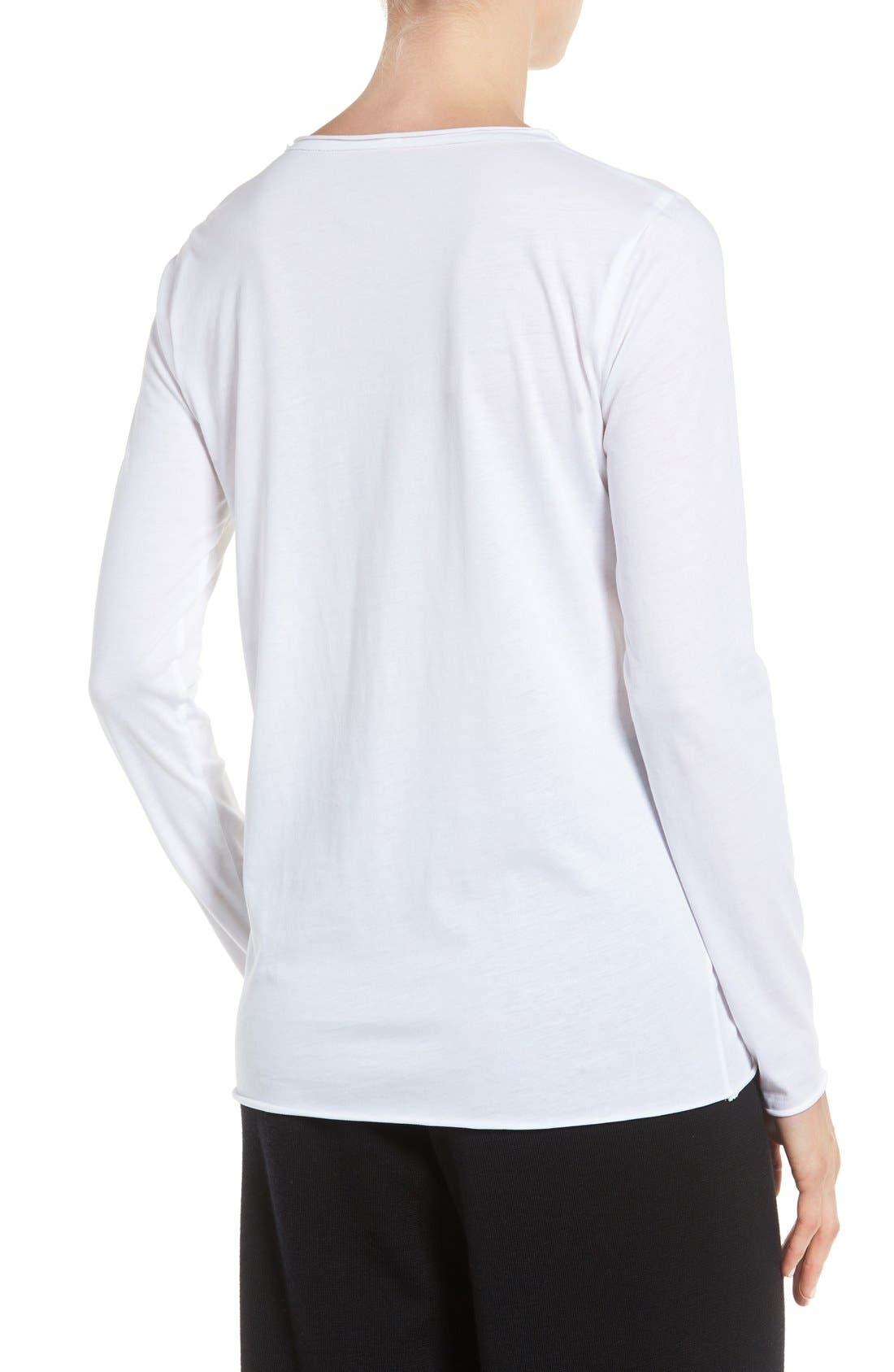 Alternate Image 2  - Eileen Fisher Organic Cotton Jersey Top