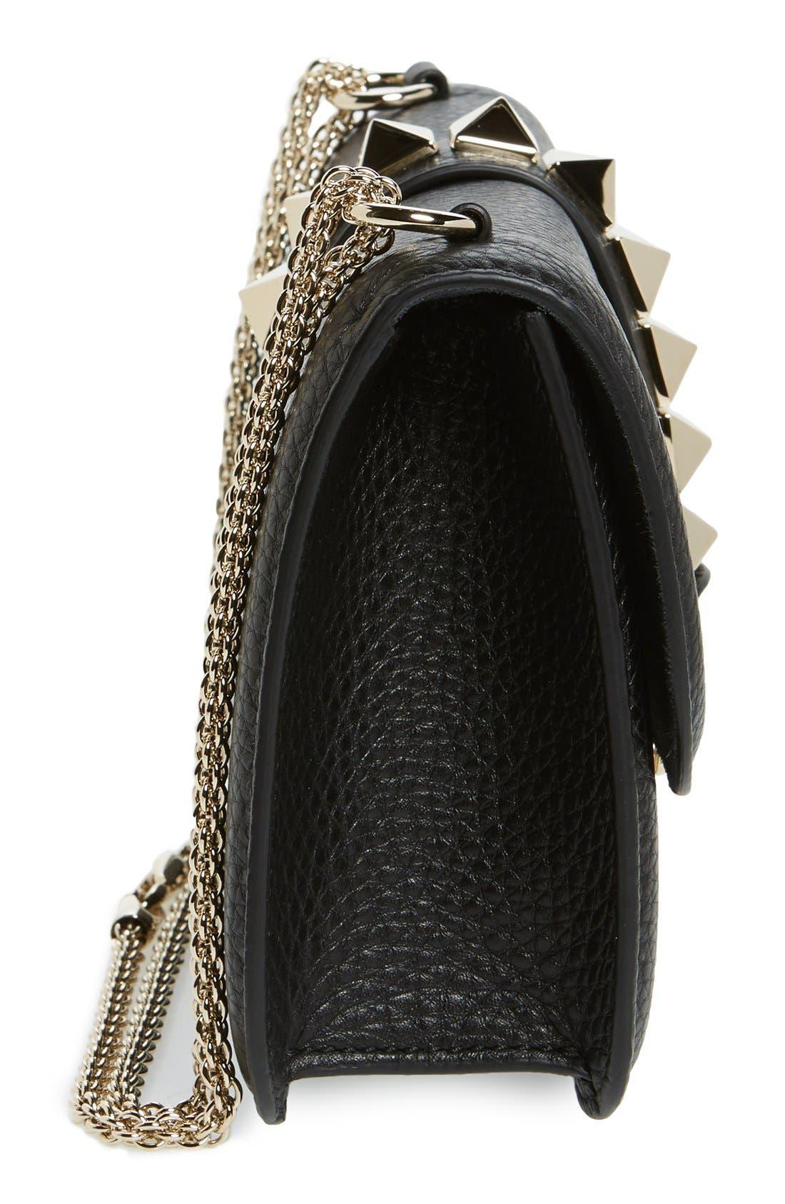 Alternate Image 5  - Valentino Medium Lock Studded Leather Shoulder Bag