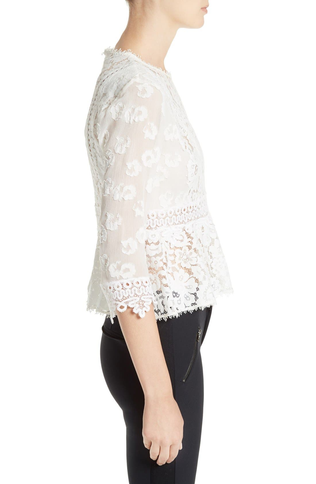 Alternate Image 3  - Rebecca Taylor Mix Lace Top