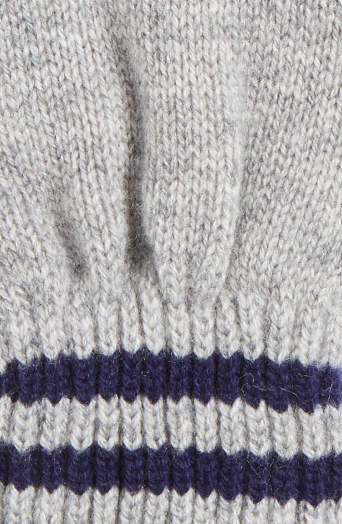 Alternate Image 3  - Polo Ralph Lauren Rugby Stripe Wool & Cashmere Gloves