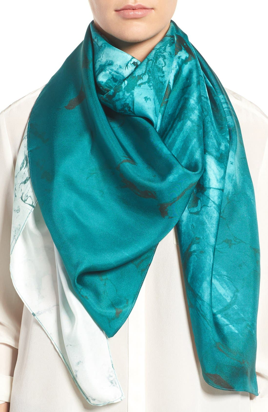 Main Image - Nordstrom Studies in Oils Square Silk Scarf