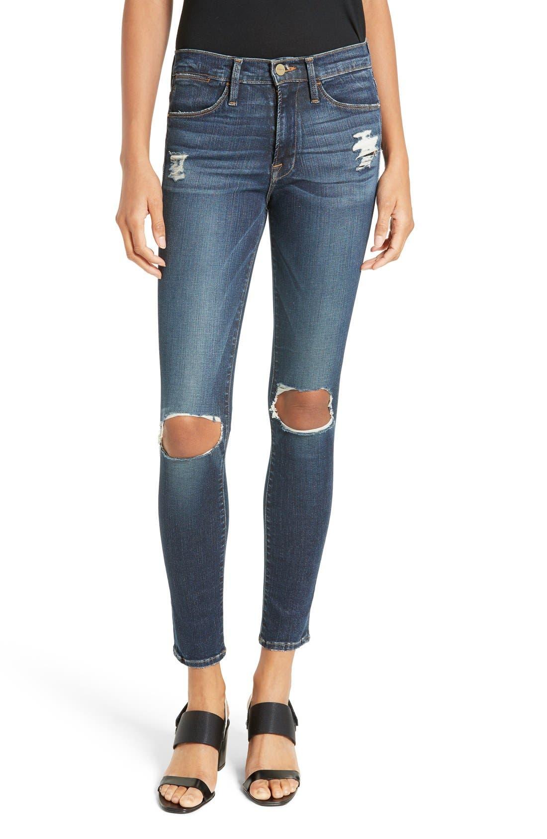 FRAME Le High Skinny Jeans (Marlowe) | Nordstrom