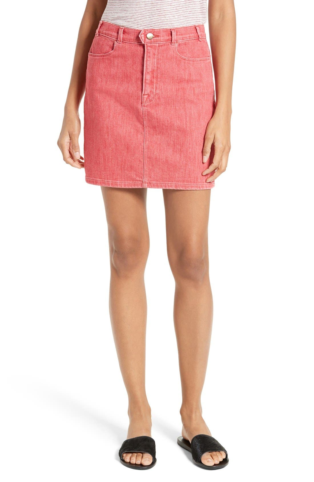 FRAME Le Color Denim Pencil Skirt | Nordstrom