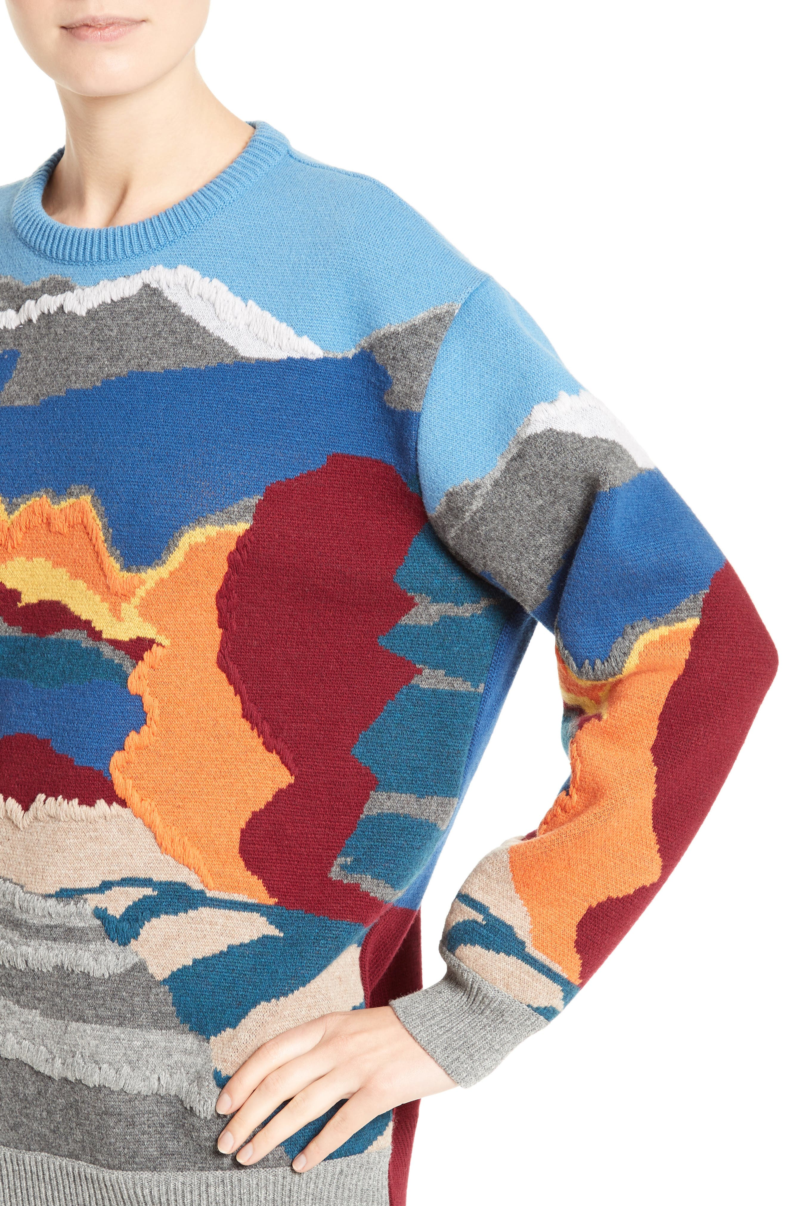 Alternate Image 6  - Stella McCartney 'Landscape' Intarsia Knit Wool Sweater