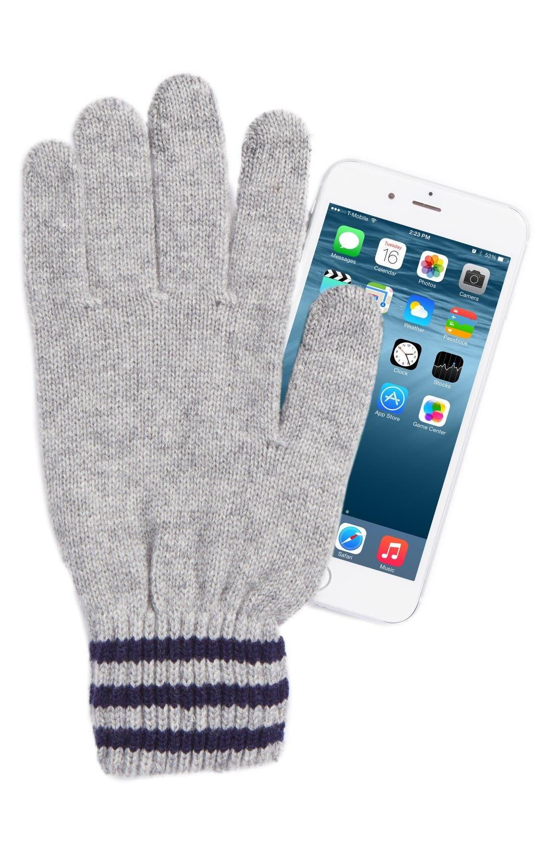 Alternate Image 2  - Polo Ralph Lauren Rugby Stripe Wool & Cashmere Gloves