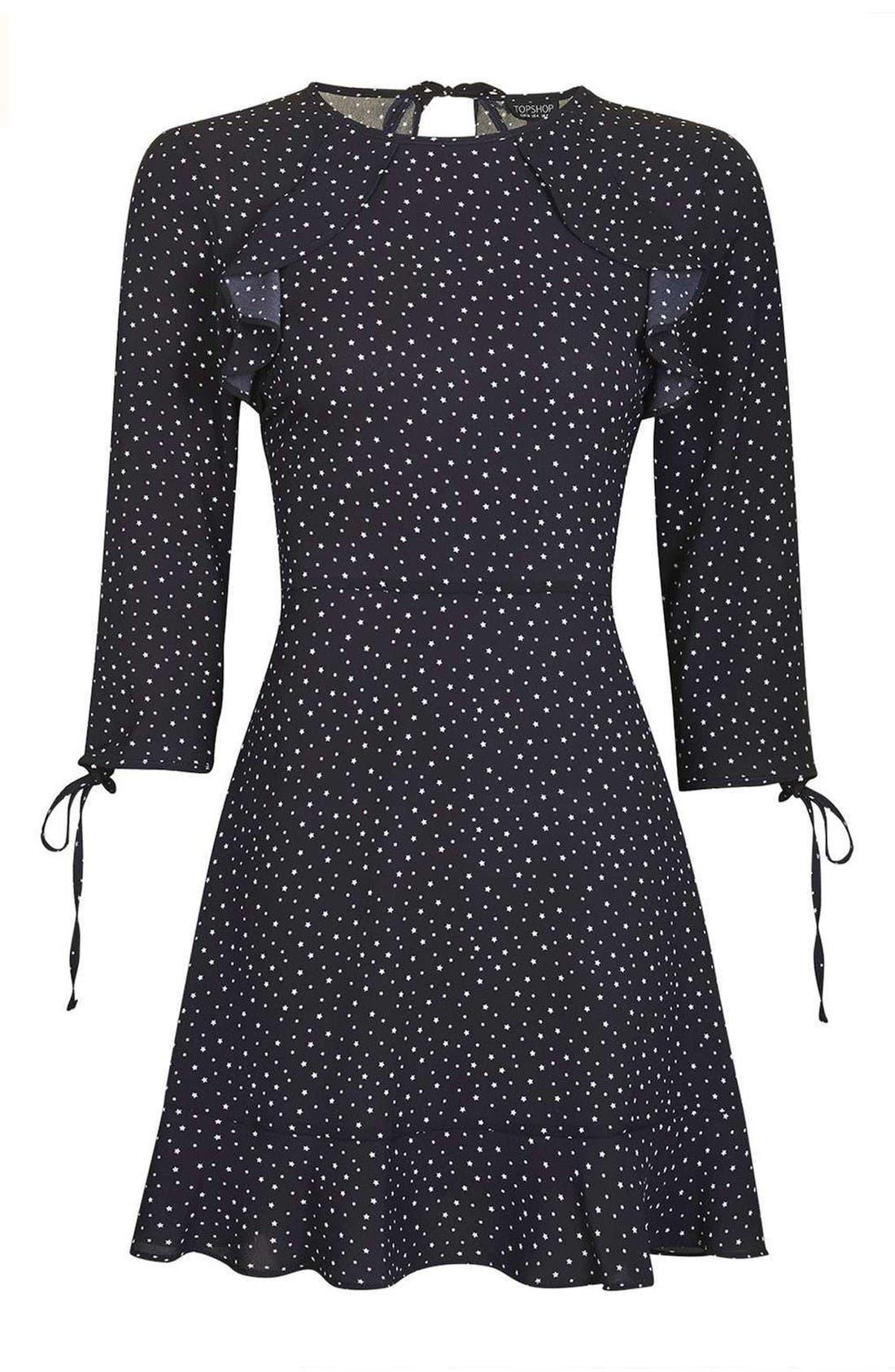 Alternate Image 4  - Topshop Star Ruffle Dress