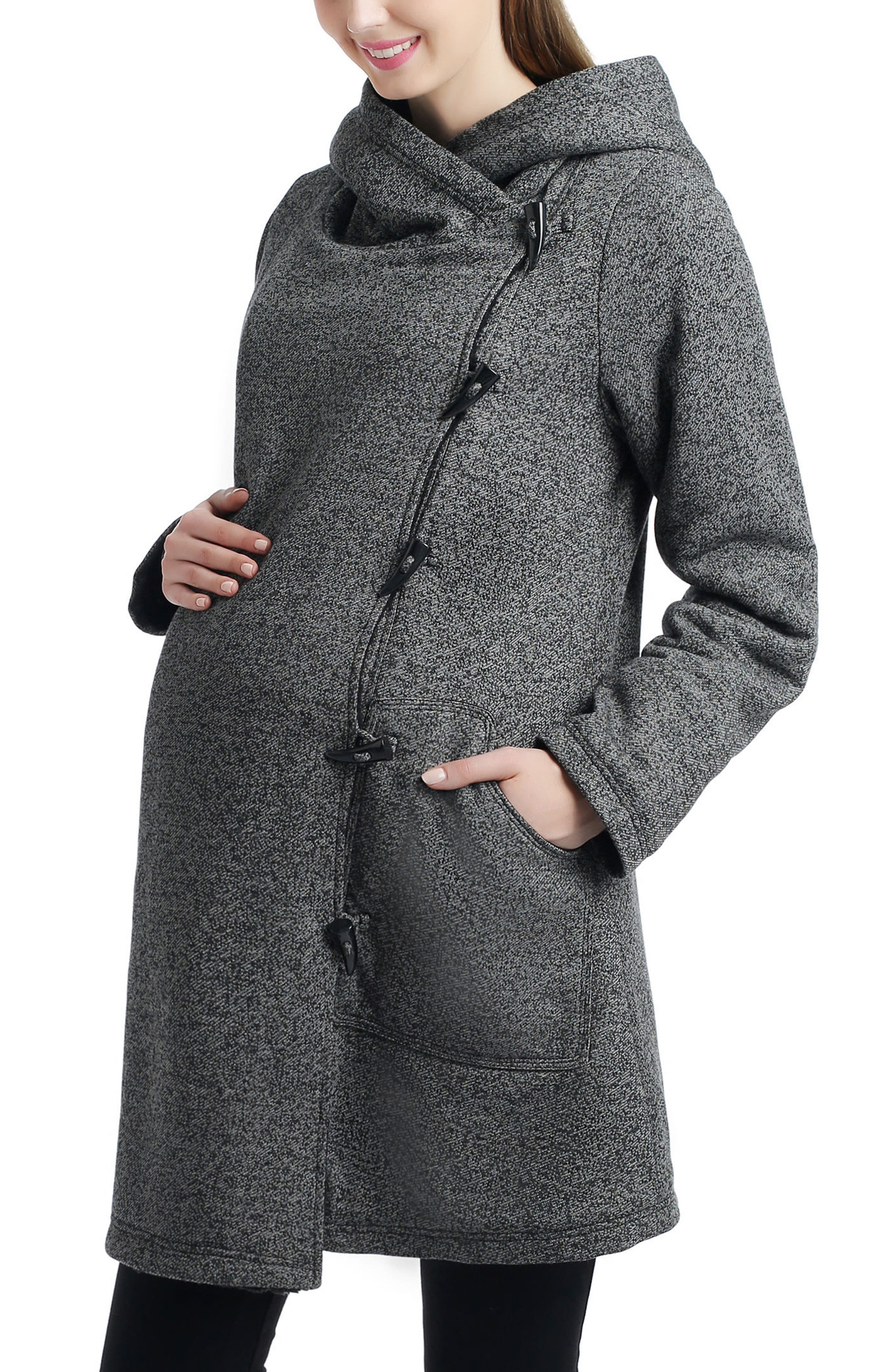 Kimi and Kai Amy Hooded Maternity Sweatshirt Jacket