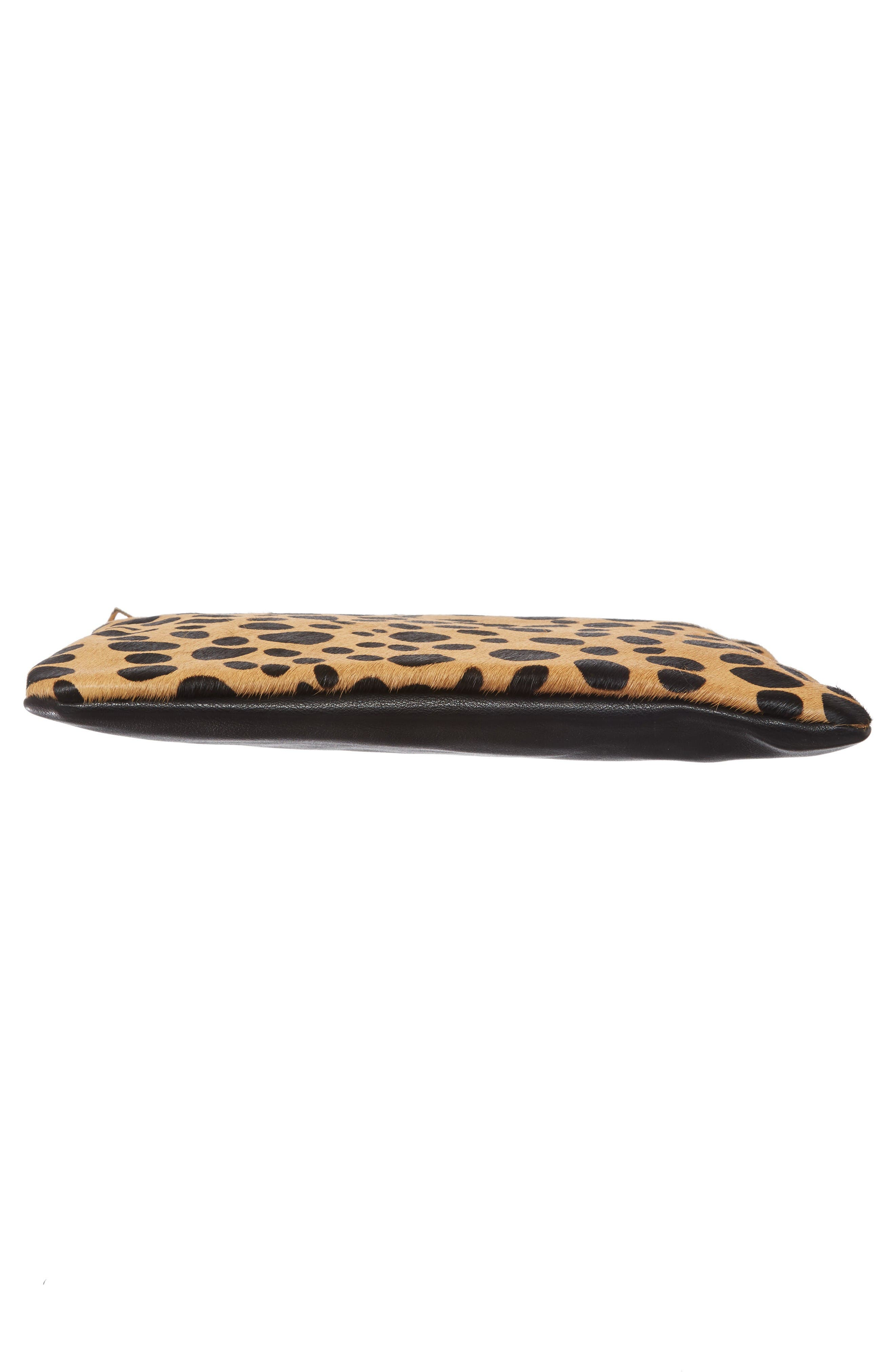 Alternate Image 6  - BP. Leopard Print Genuine Calf Hair Clutch