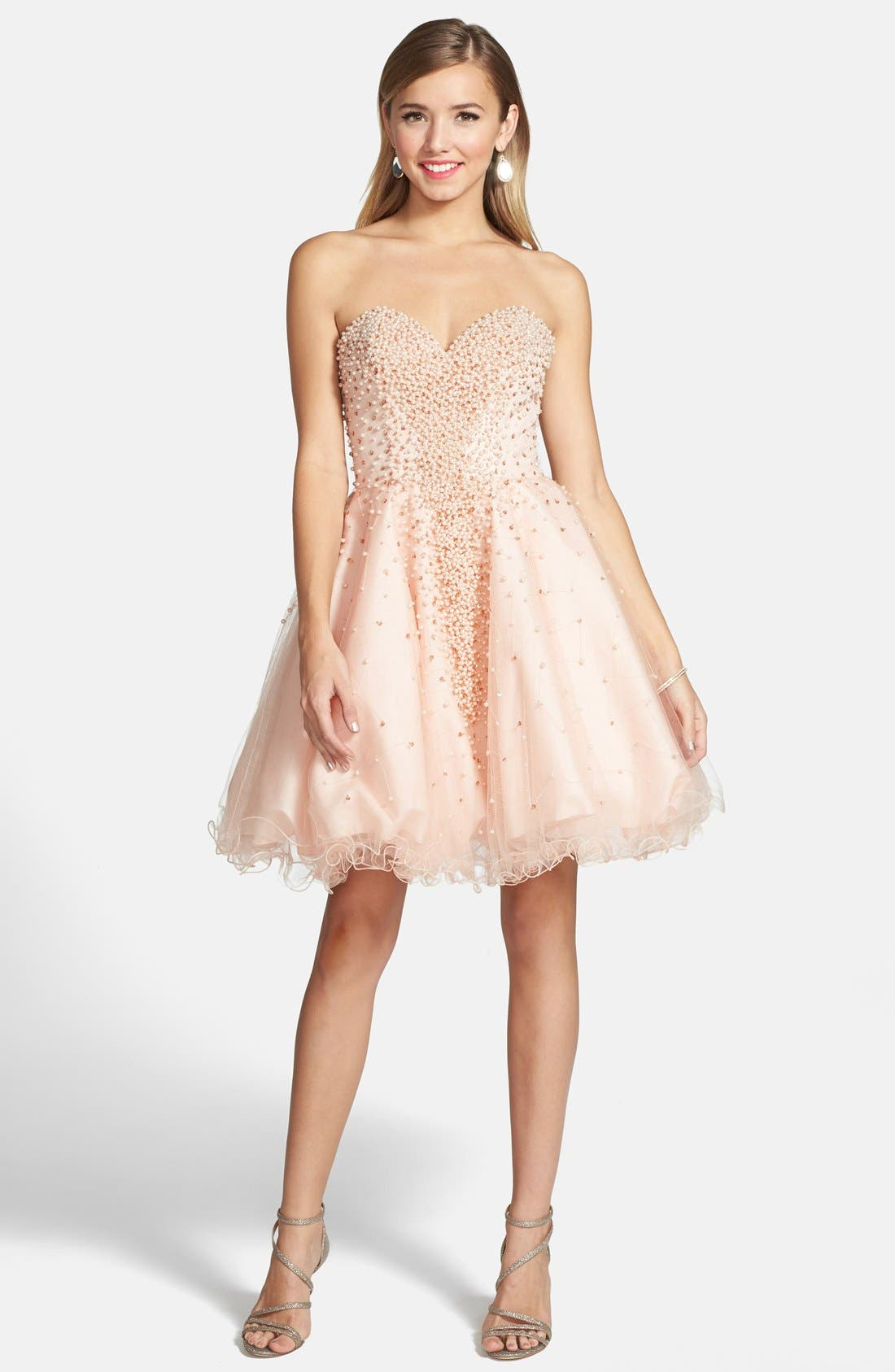 Alternate Image 3  - Terani Couture Embellished Tulle Strapless Fit & Flare Dress