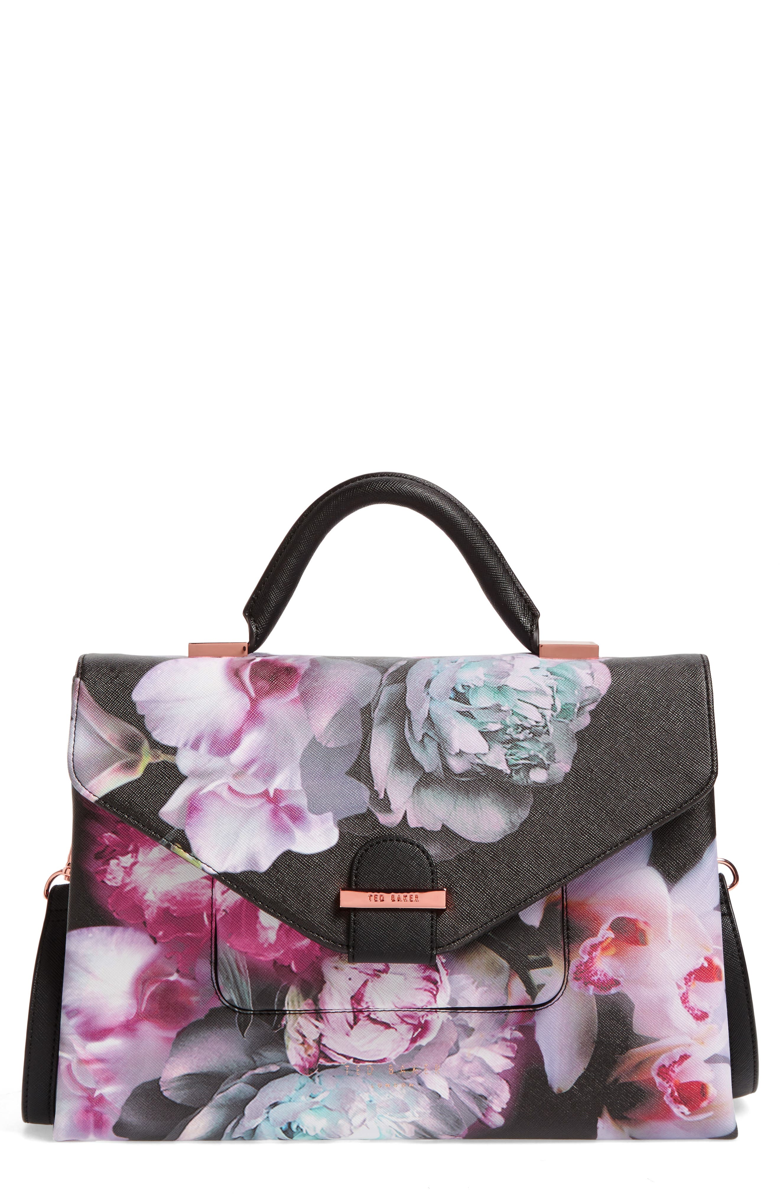 Alternate Image 1 Selected - Ted Baker London Ethereal Posie Faux Leather Satchel