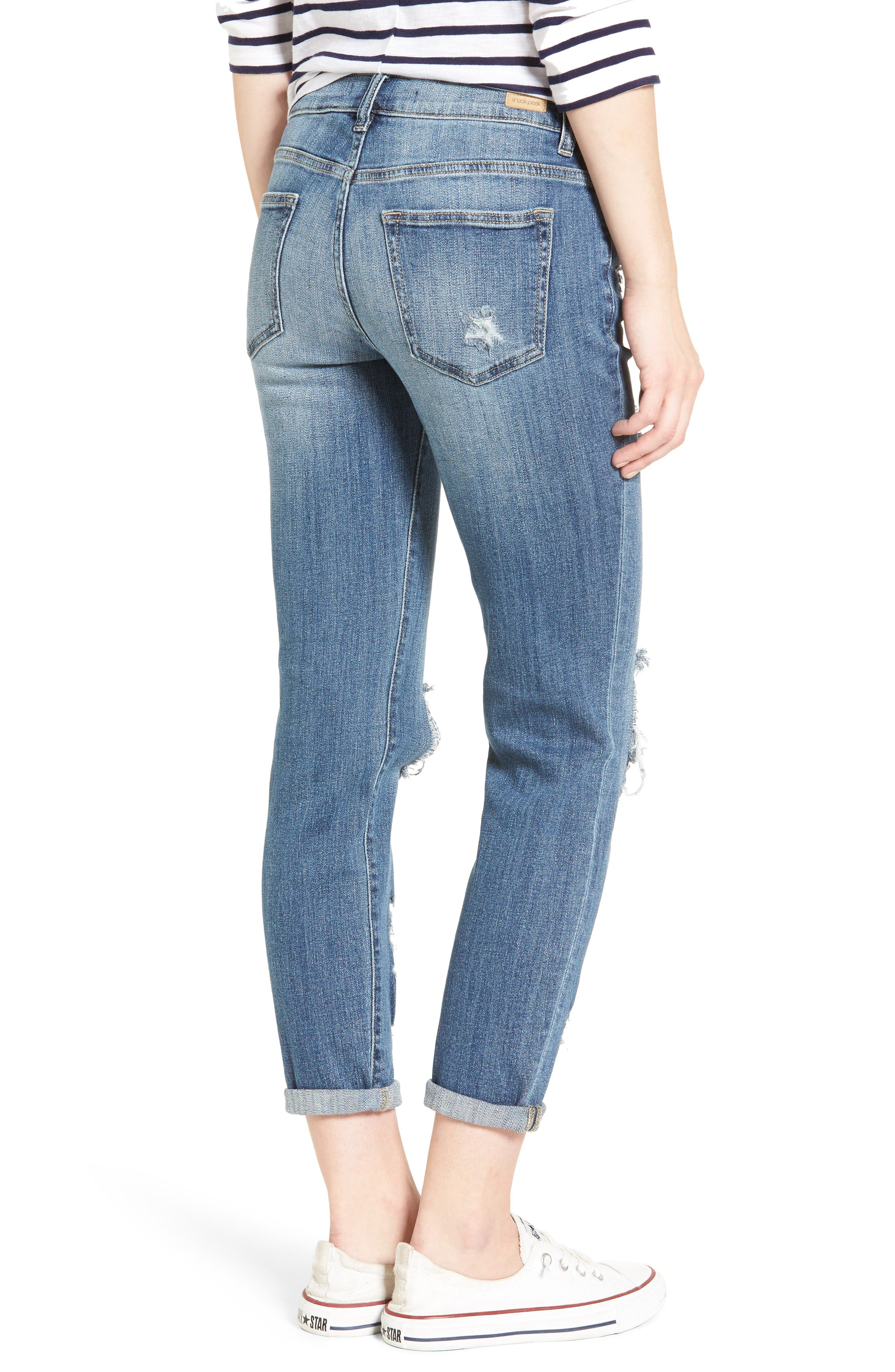 Alternate Image 2  - SP Black Decon Destroyed Boyfriend Jeans