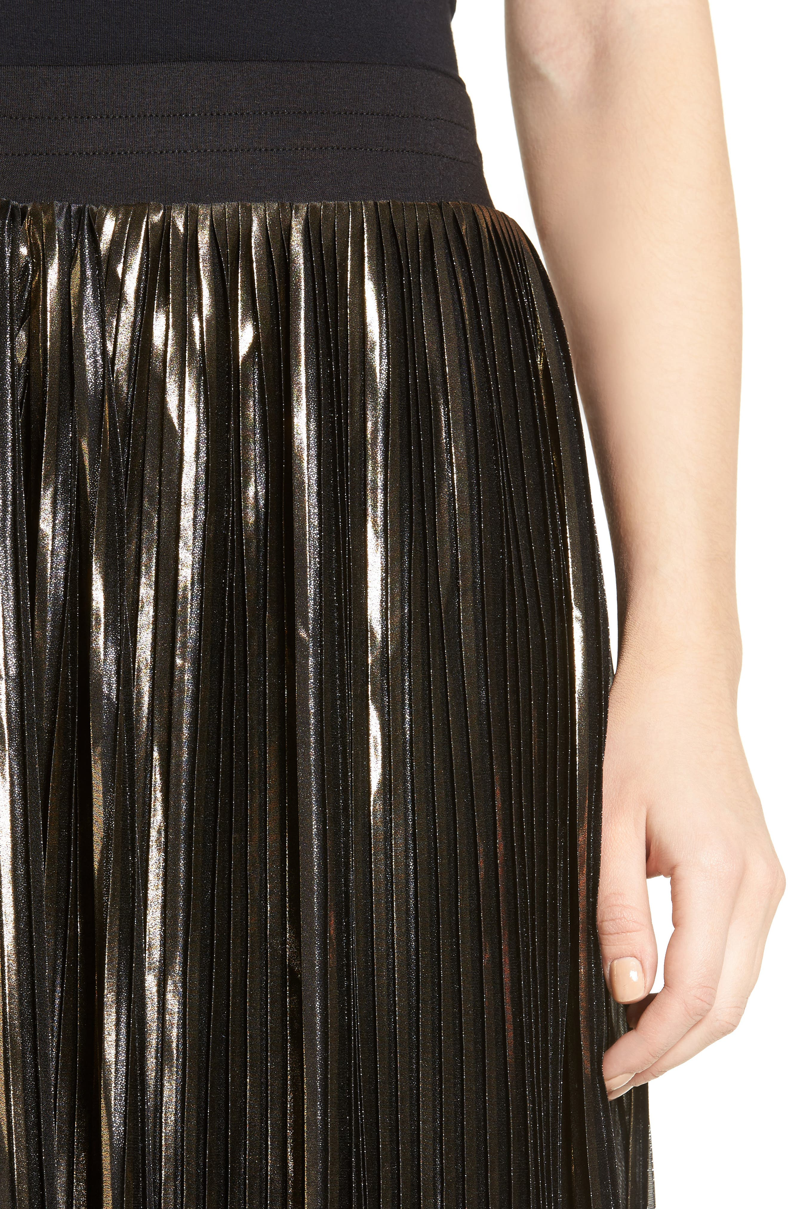 Alternate Image 4  - Trouvé Shine Pleat Midi Skirt