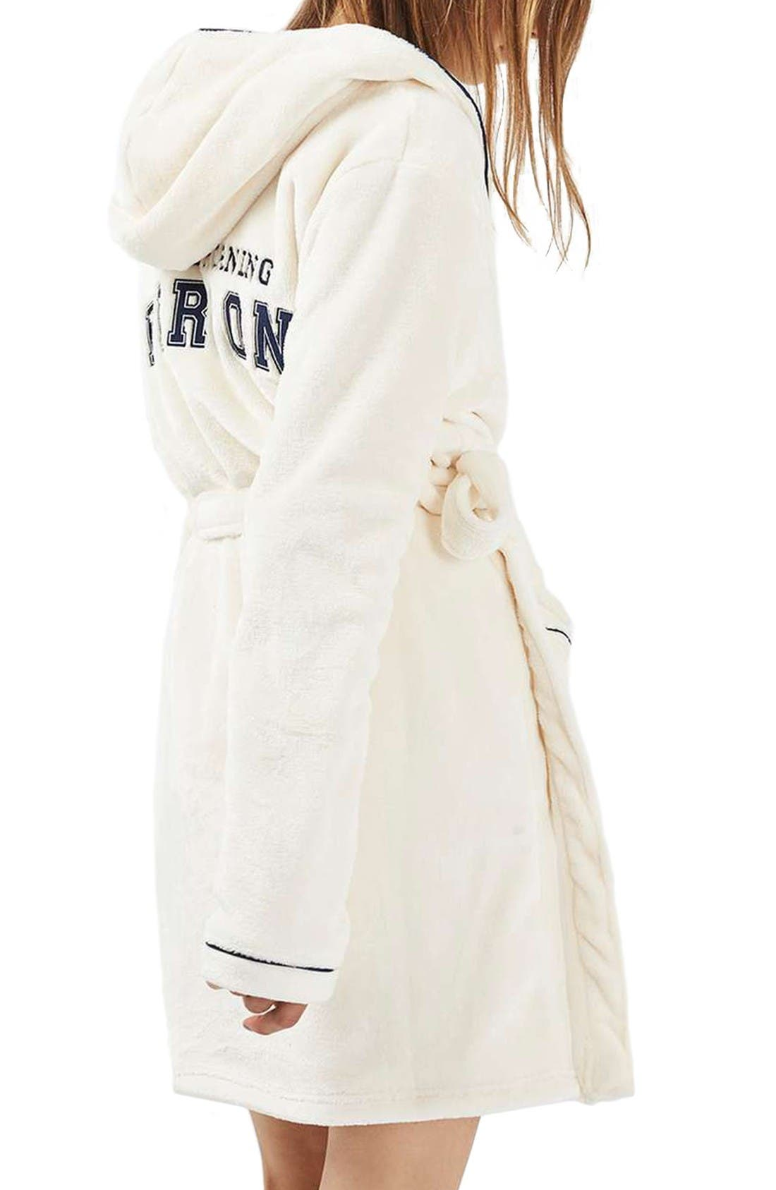 Alternate Image 3  - Topshop Not a Morning Person Hooded Robe