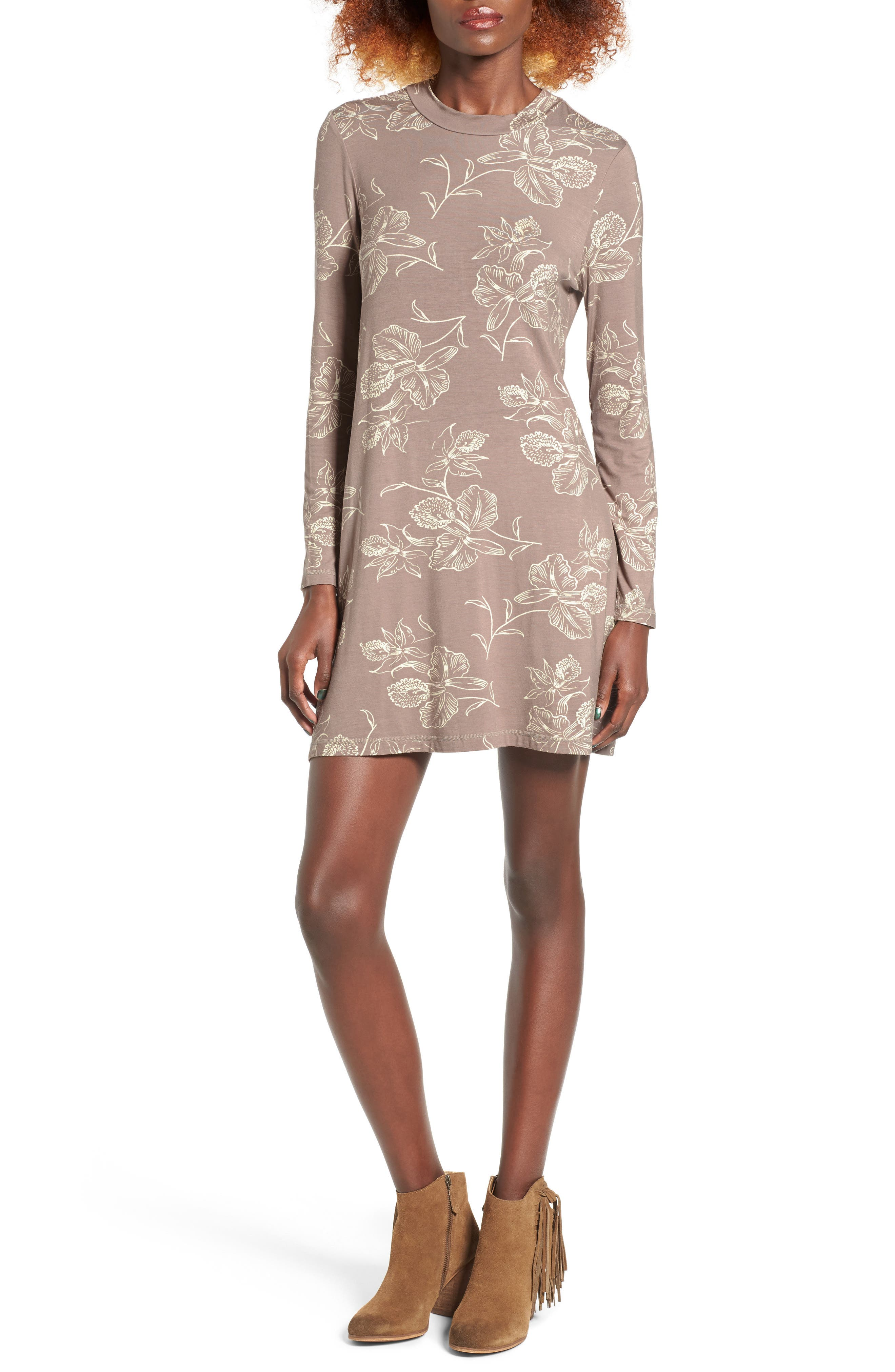 Alternate Image 1 Selected - O'Neill Leona Mock Neck Minidress