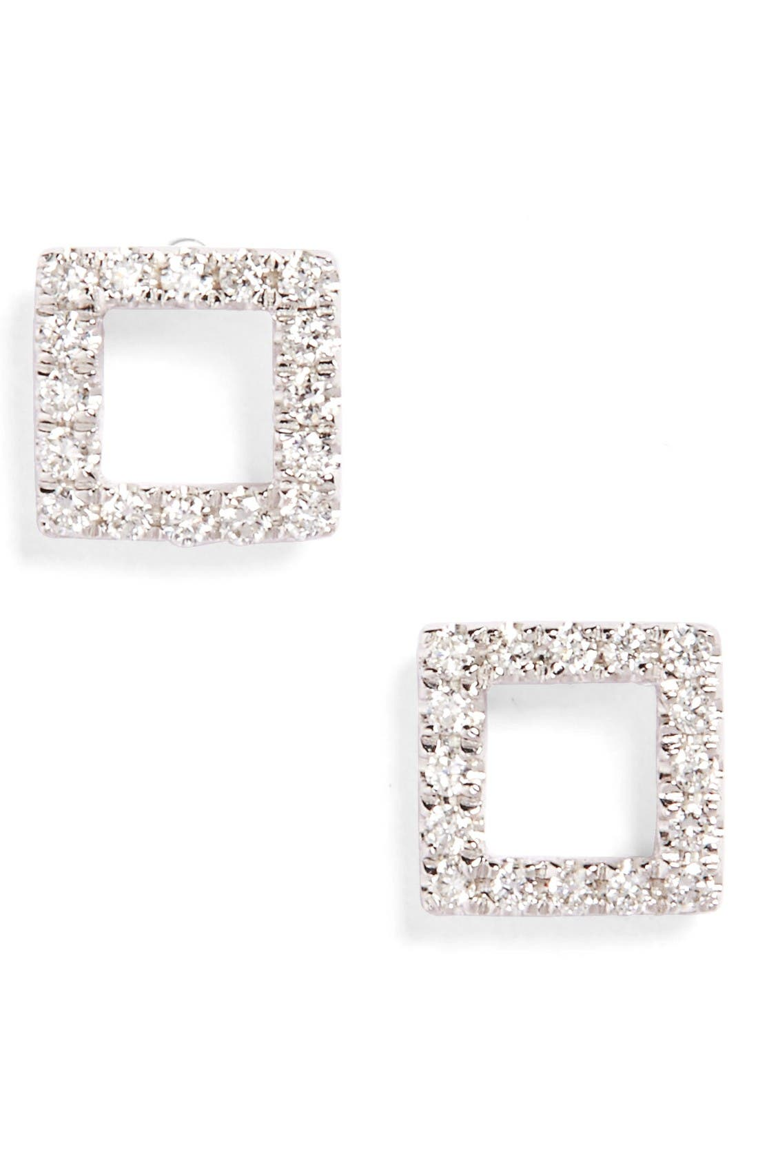 Main Image - Bony Levy Aurora Diamond Open Square Stud Earrings (Nordstrom Exclusive)