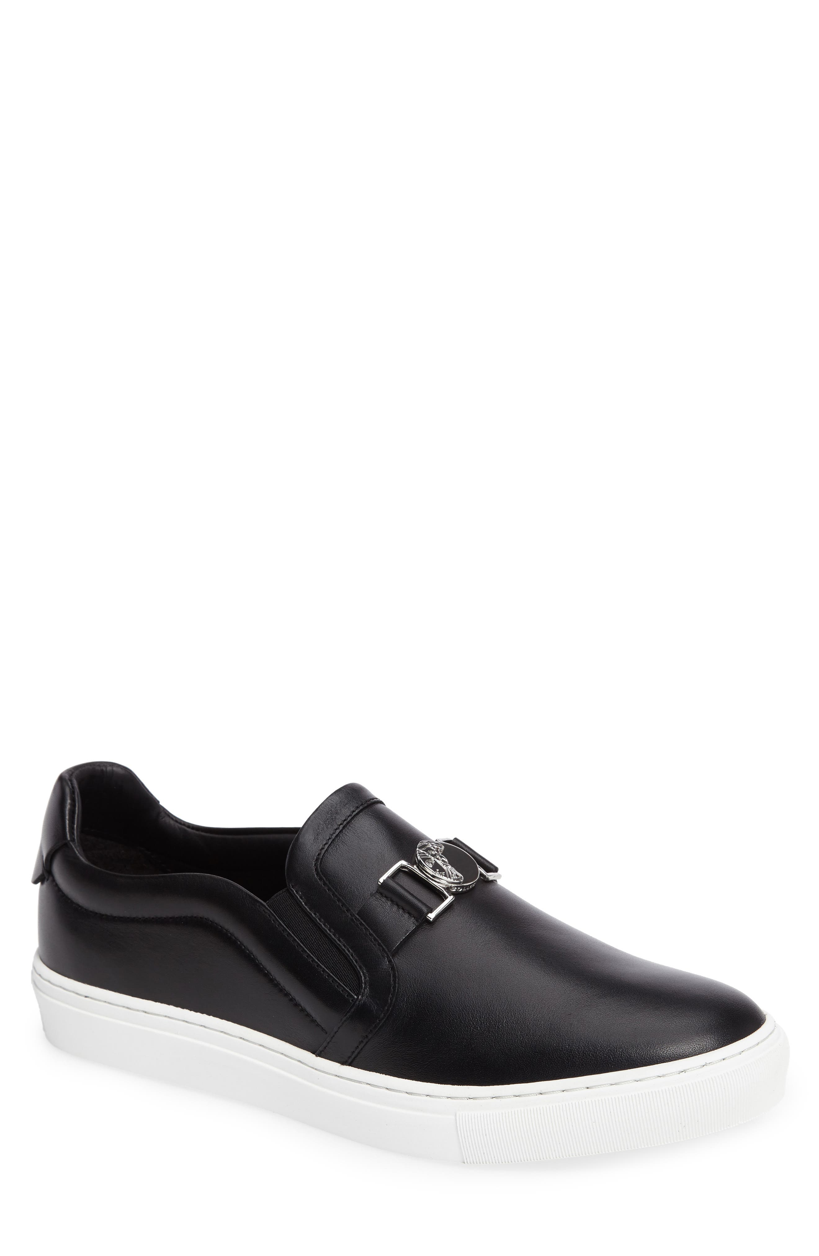 Versace Collection Slip-On Sneaker with Medallion (Men)