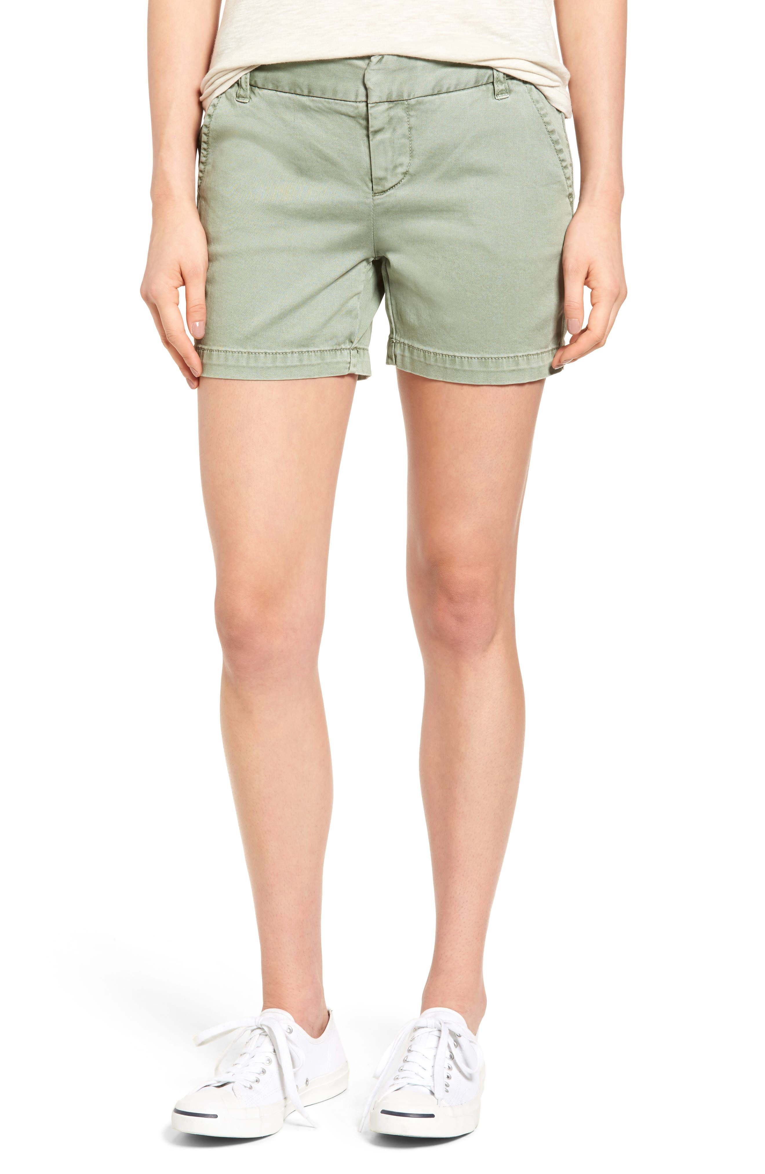 Caslon® Cotton Twill Shorts (Regular & Petite)