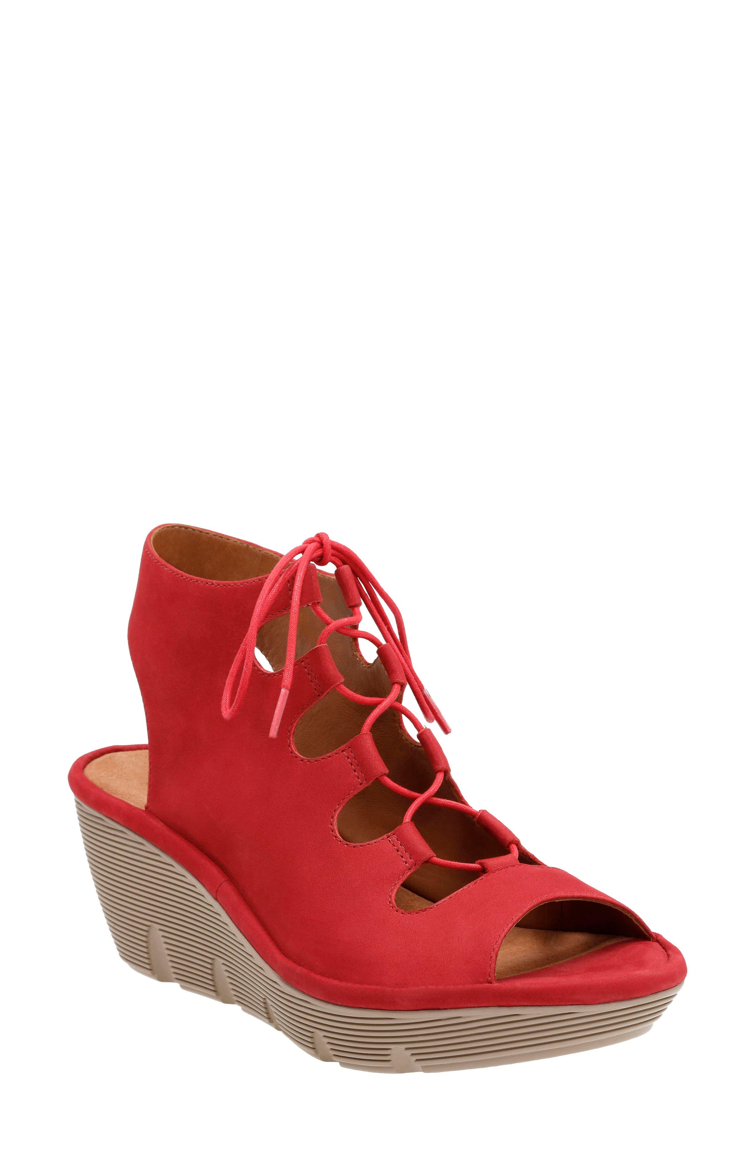 Clarks® Clarene Grace Wedge Sandal (Women)