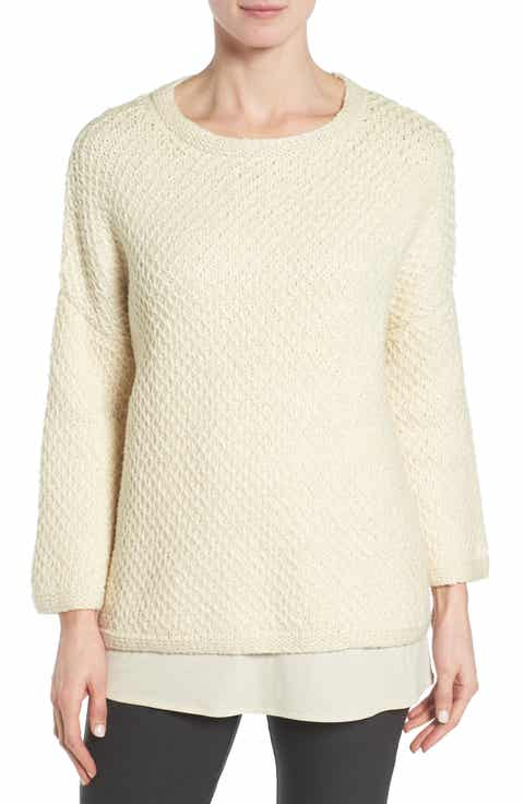 Eileen Fisher Organic Cotton Honeycomb Pullover