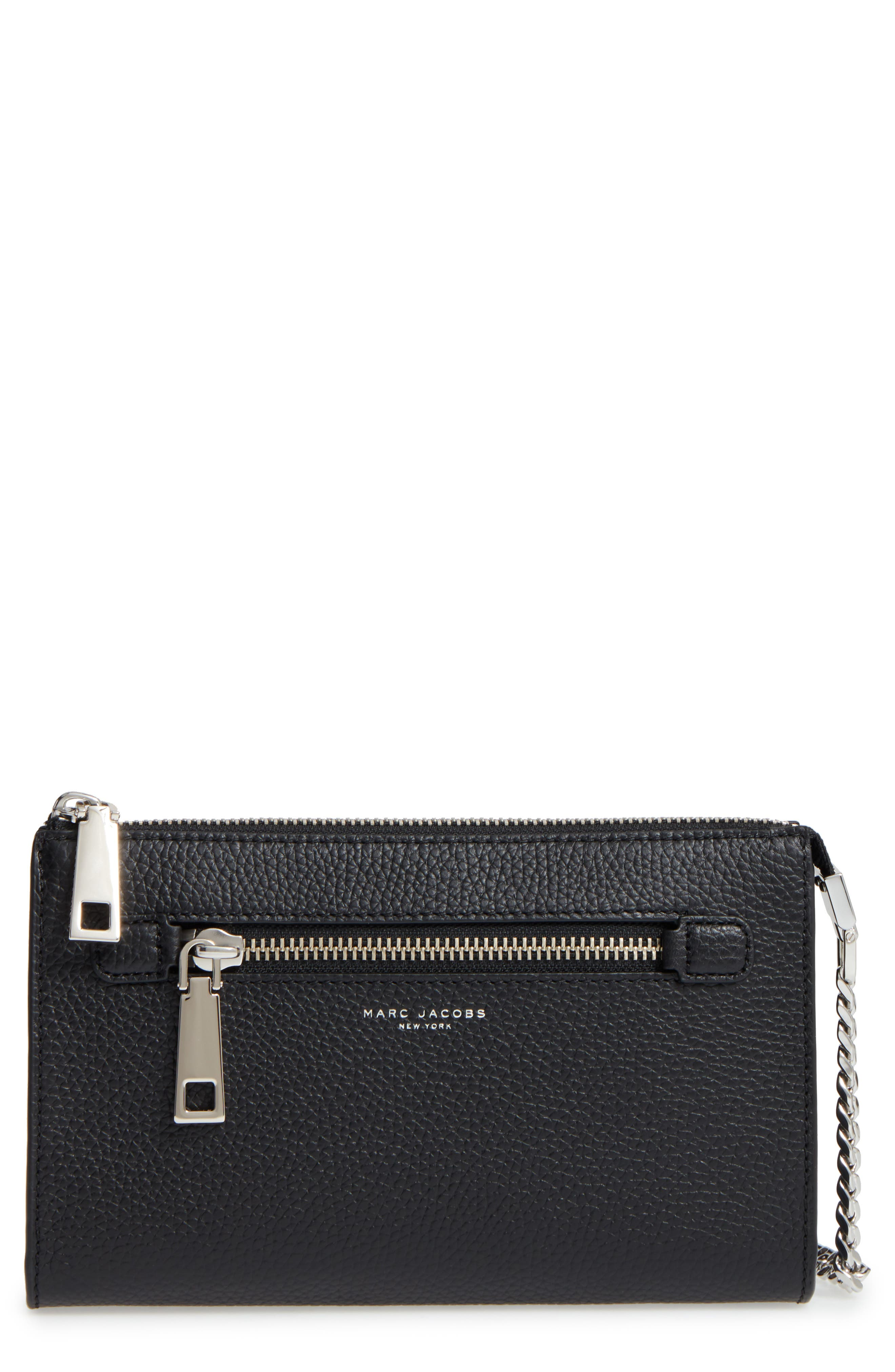 Main Image - MARC JACOBS Small Gotham Leather Crossbody Wallet (Nordstrom Exclusive)