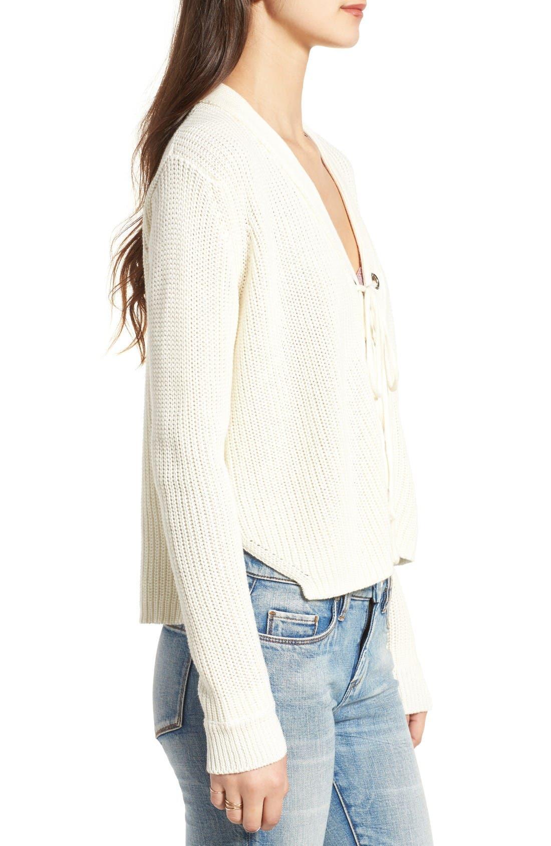 Alternate Image 3  - Lush Lace-Up Sweater