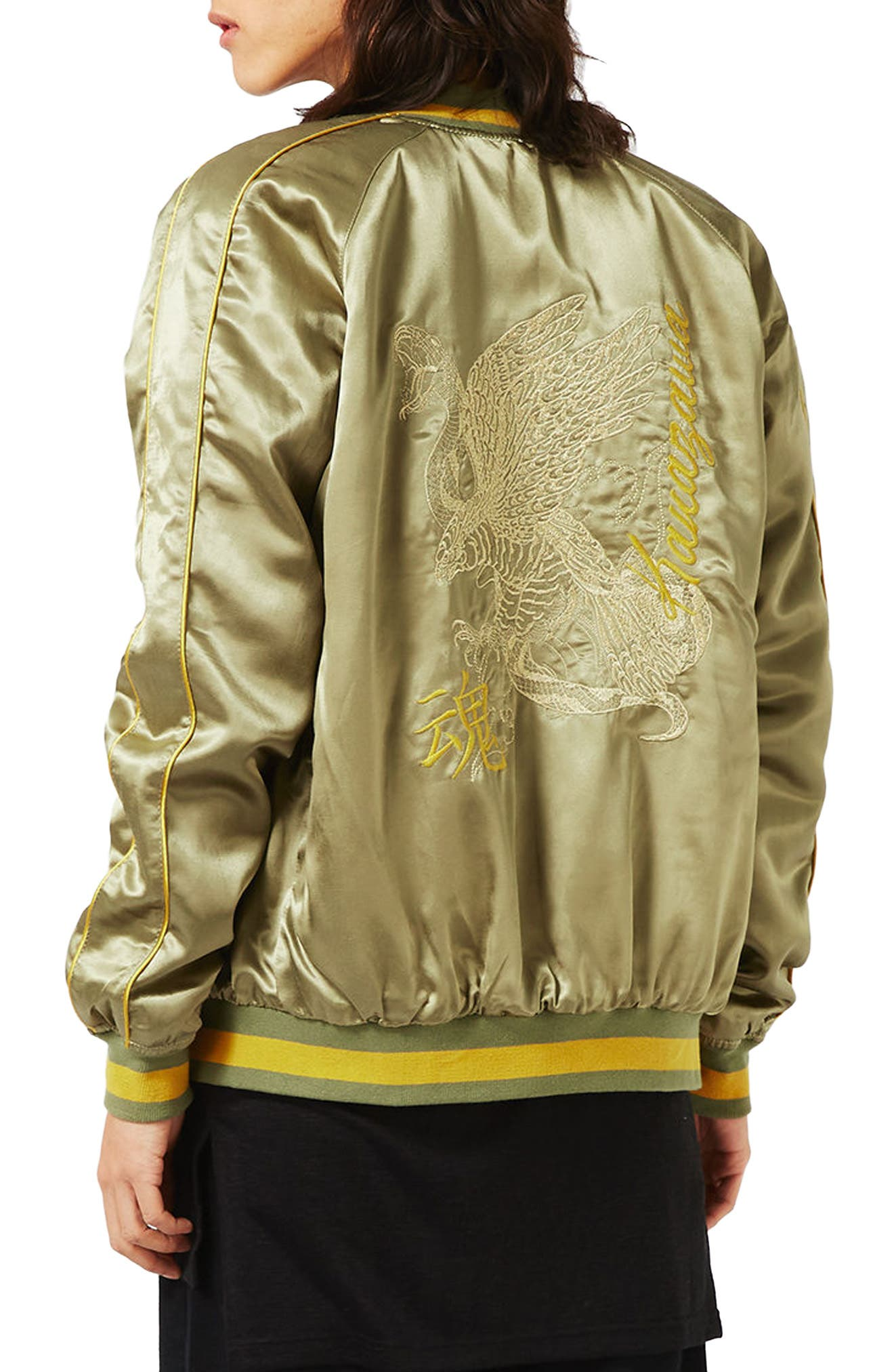 Alternate Image 1 Selected - Topman Embroidered Python Souvenir Jacket