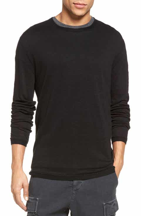 Vince Contrast Crewneck Linen Sweater