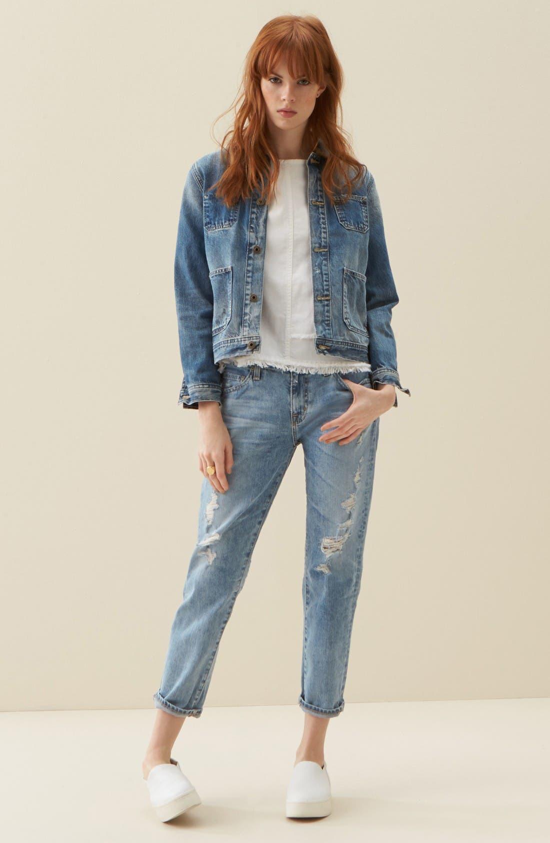 Alternate Image 2  - AG Ex-Boyfriend Crop Slim Jeans (24 Years Relief)