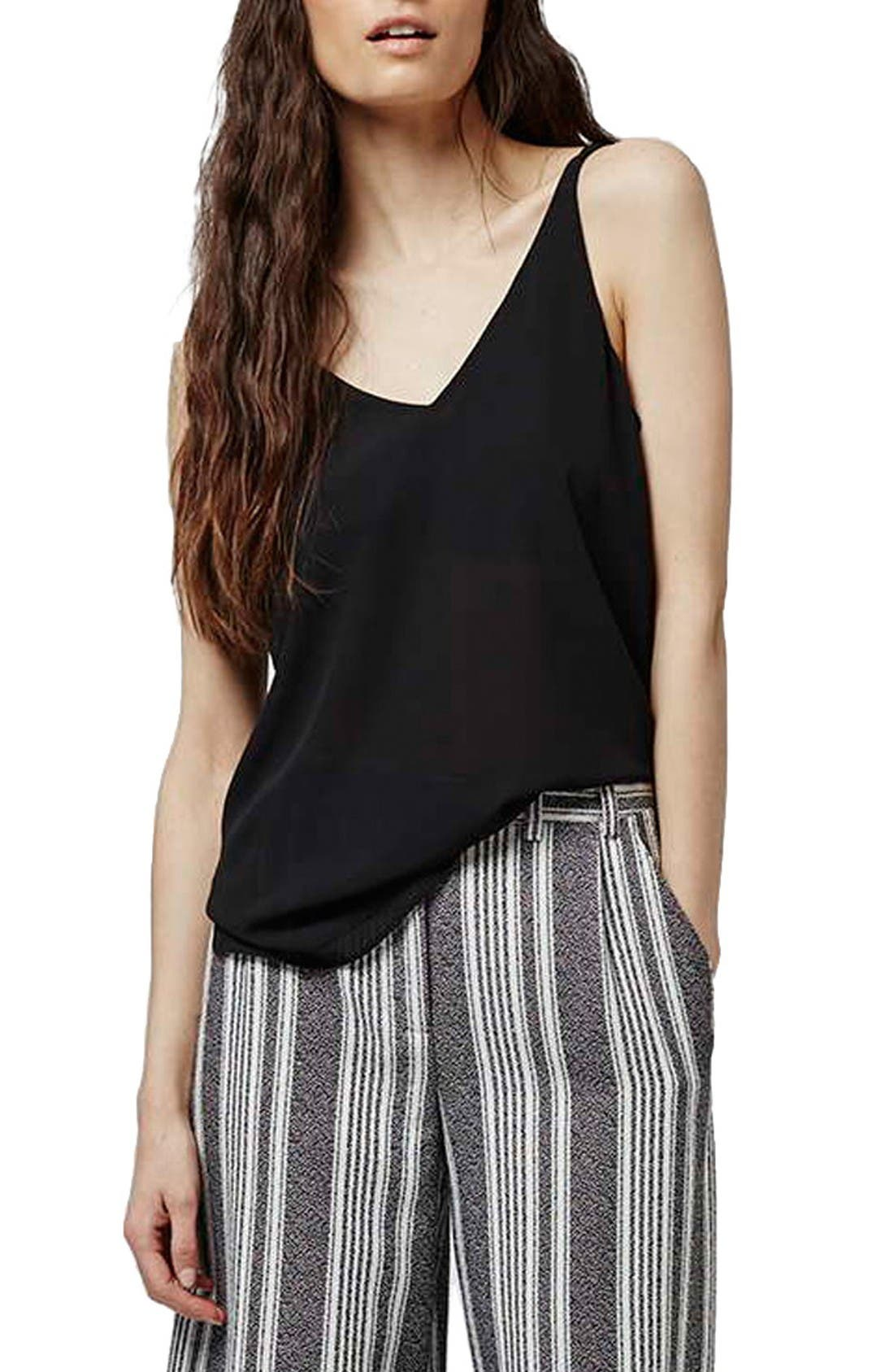 Main Image - Topshop Double Strap V-Back Camisole (Regular & Petite)