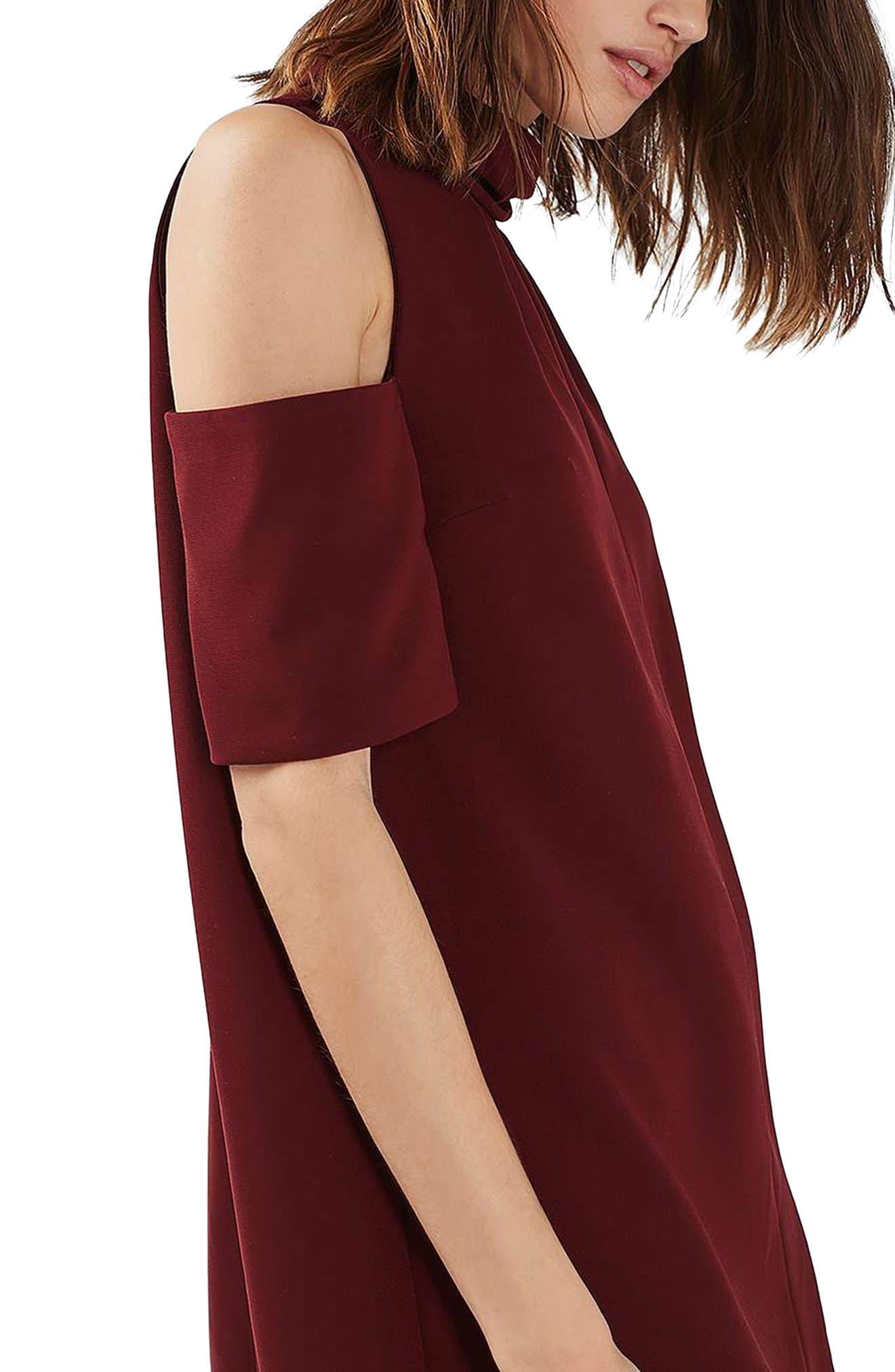 Alternate Image 5  - Topshop Cold Shoulder Keyhole Dress