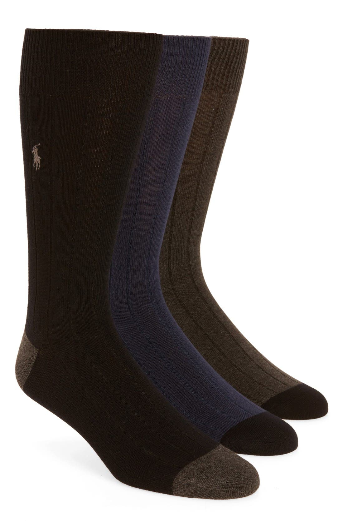Polo Ralph Lauren 3-Pack Ribbed Socks