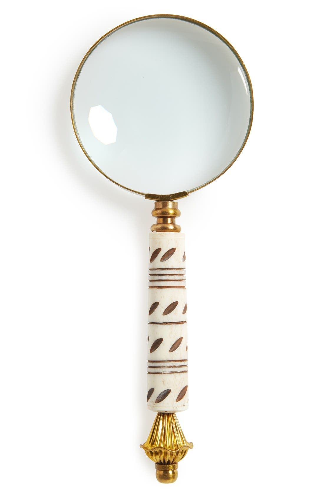 Main Image - Import Collection Brass Magnifying Glass