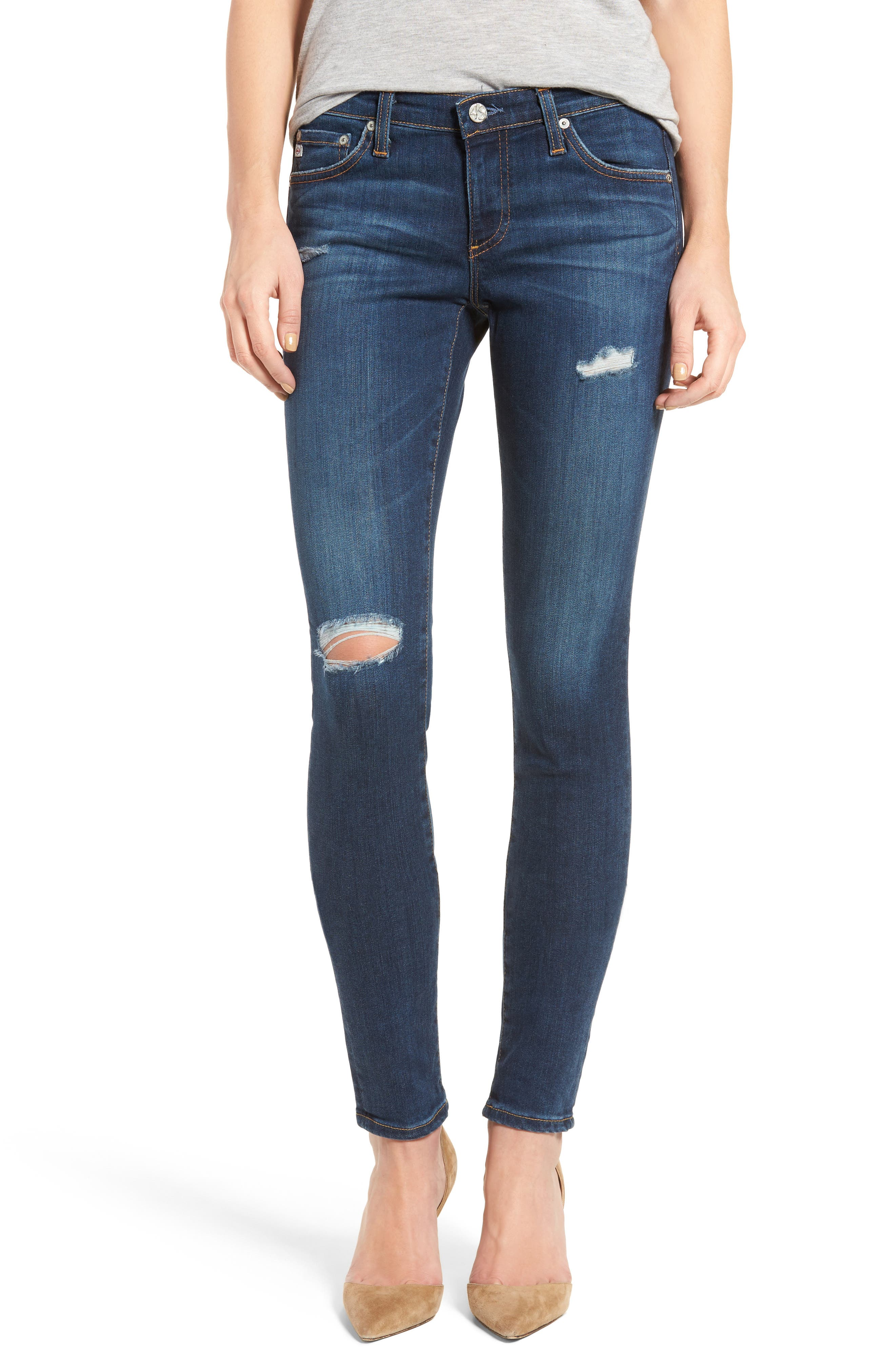 Alternate Image 1 Selected - AG The Legging Super Skinny Jeans (8 Years Wander)