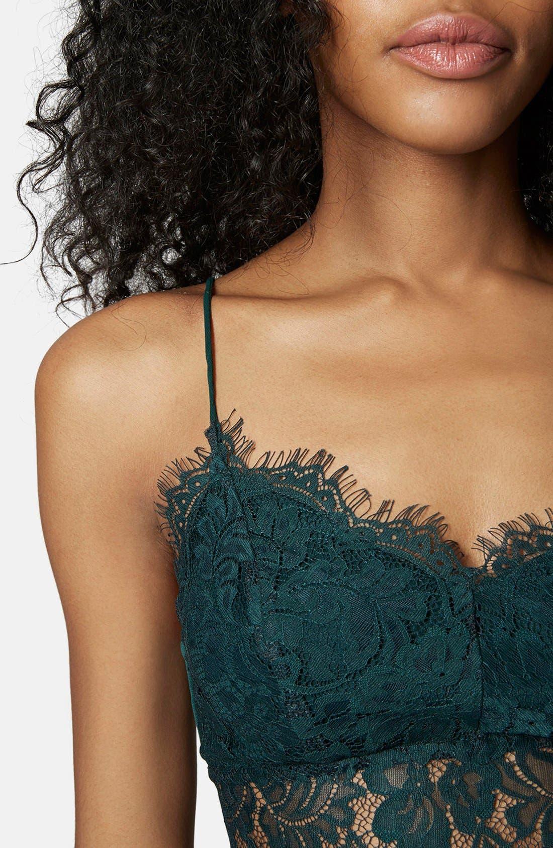 Alternate Image 4  - Topshop Lace Mesh Bralette