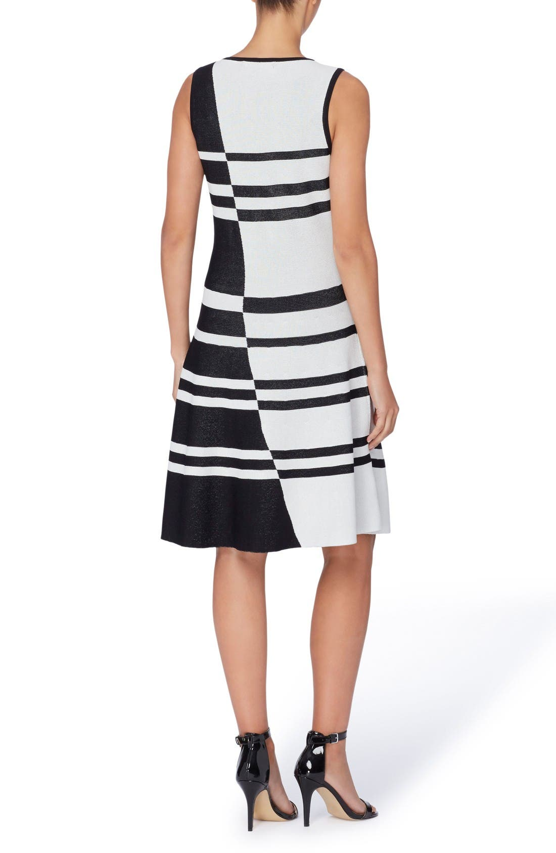 Alternate Image 2  - Catherine Catherine Malandrino Loren Colorblock Stripe Dress
